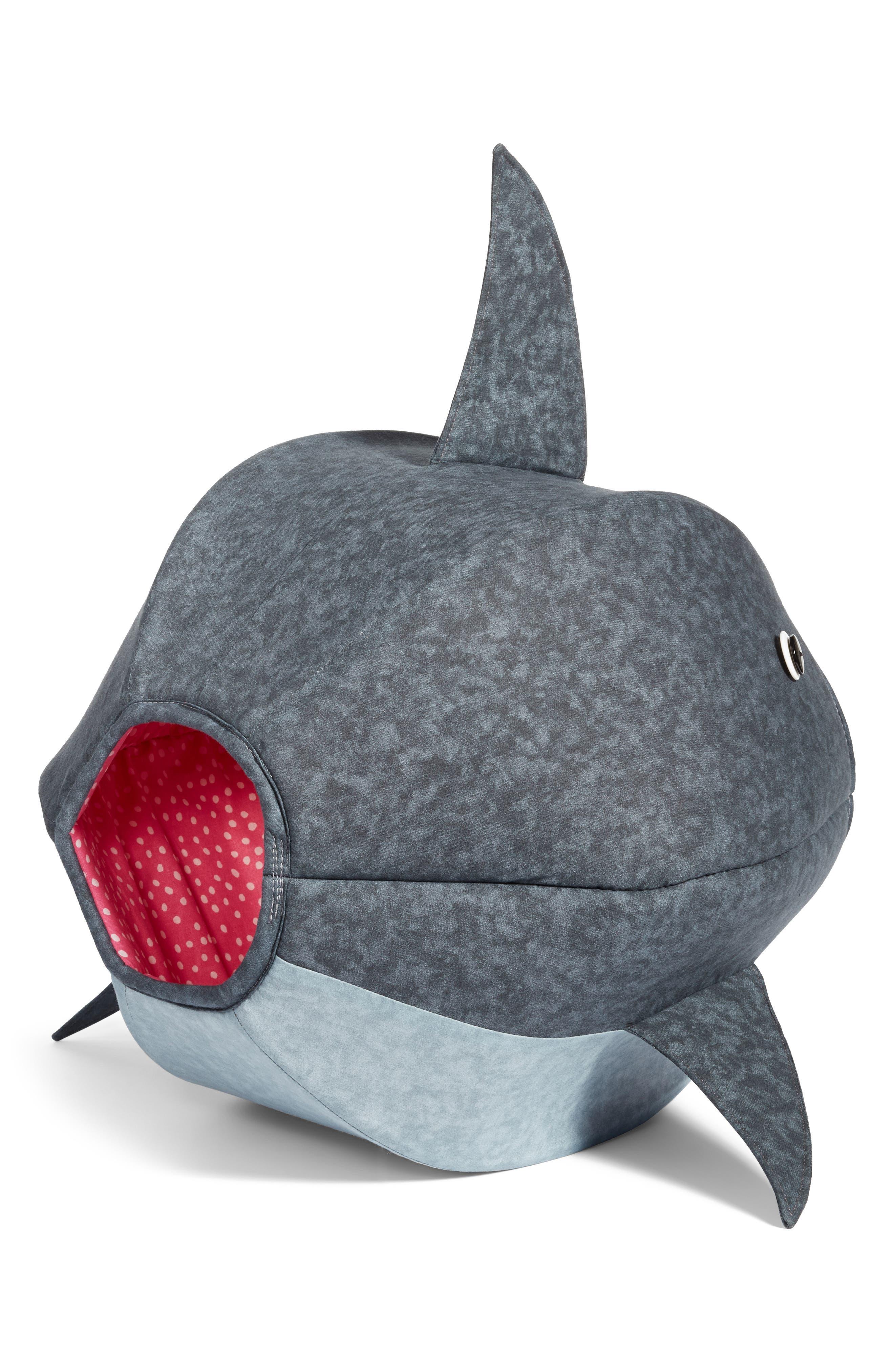 Great White Shark Cat Bed,                             Alternate thumbnail 2, color,                             020