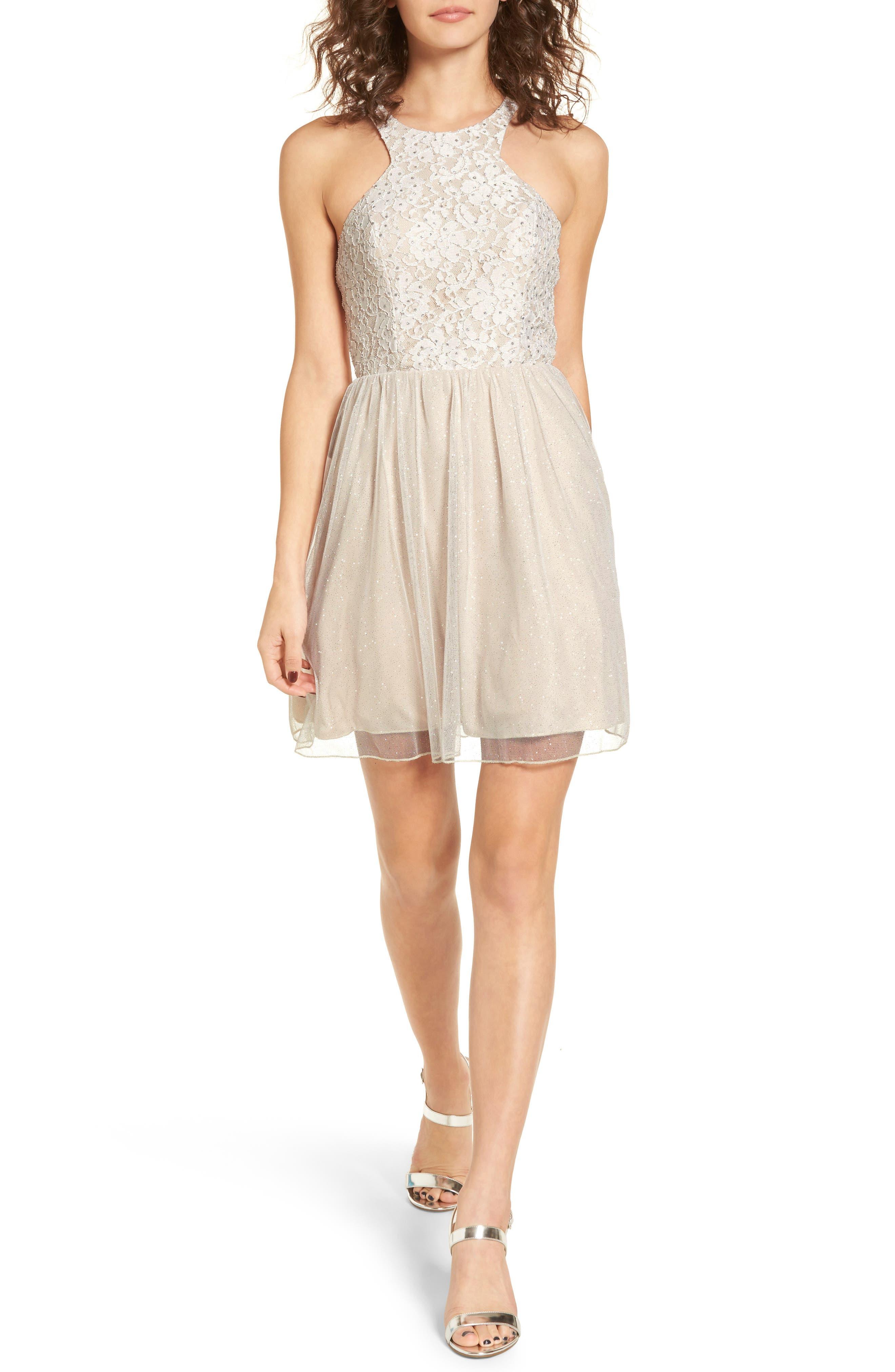 Glitter Tulle Dress,                         Main,                         color, 681