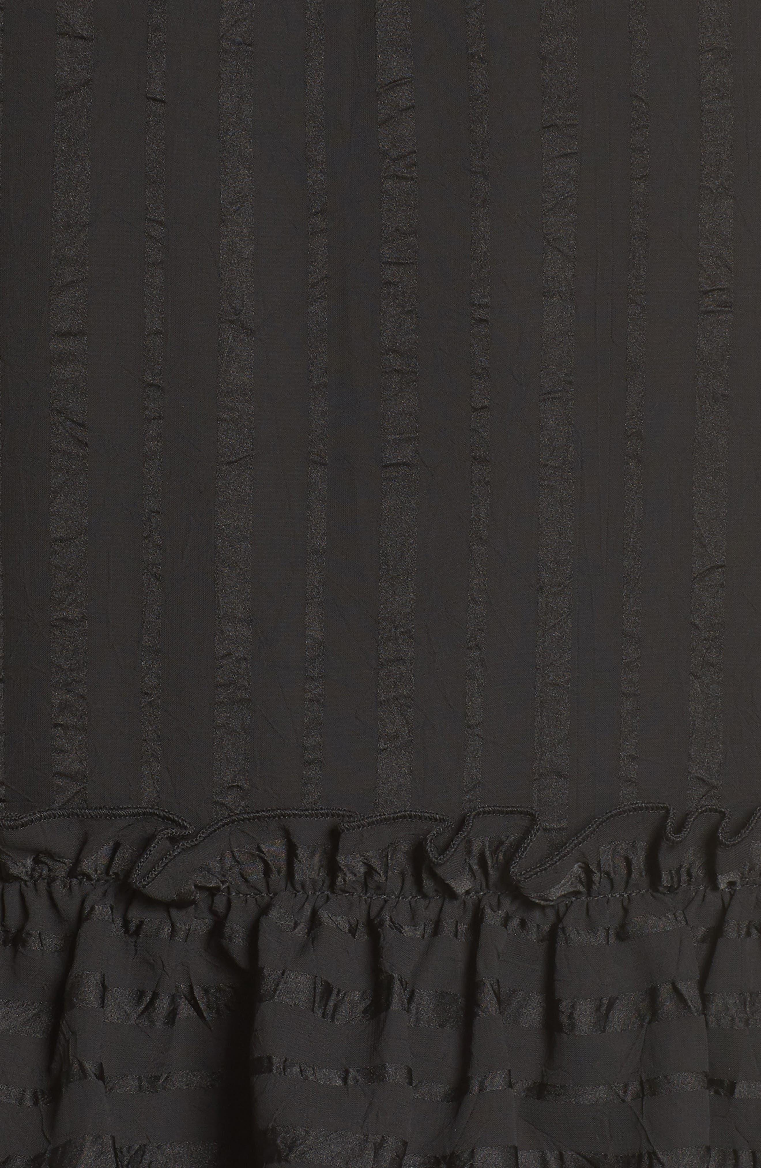 Lila Stripe Chiffon Halter Dress,                             Alternate thumbnail 6, color,                             001