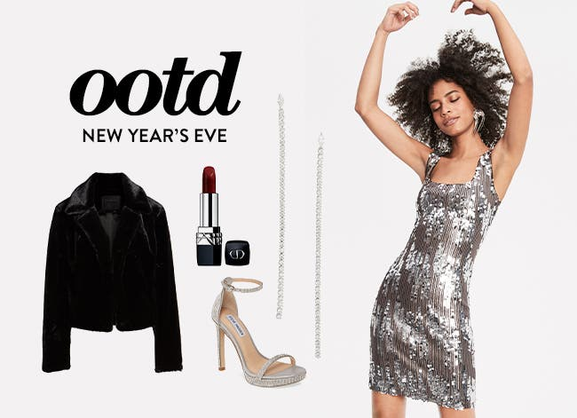 New Year's Eve outfit of the day