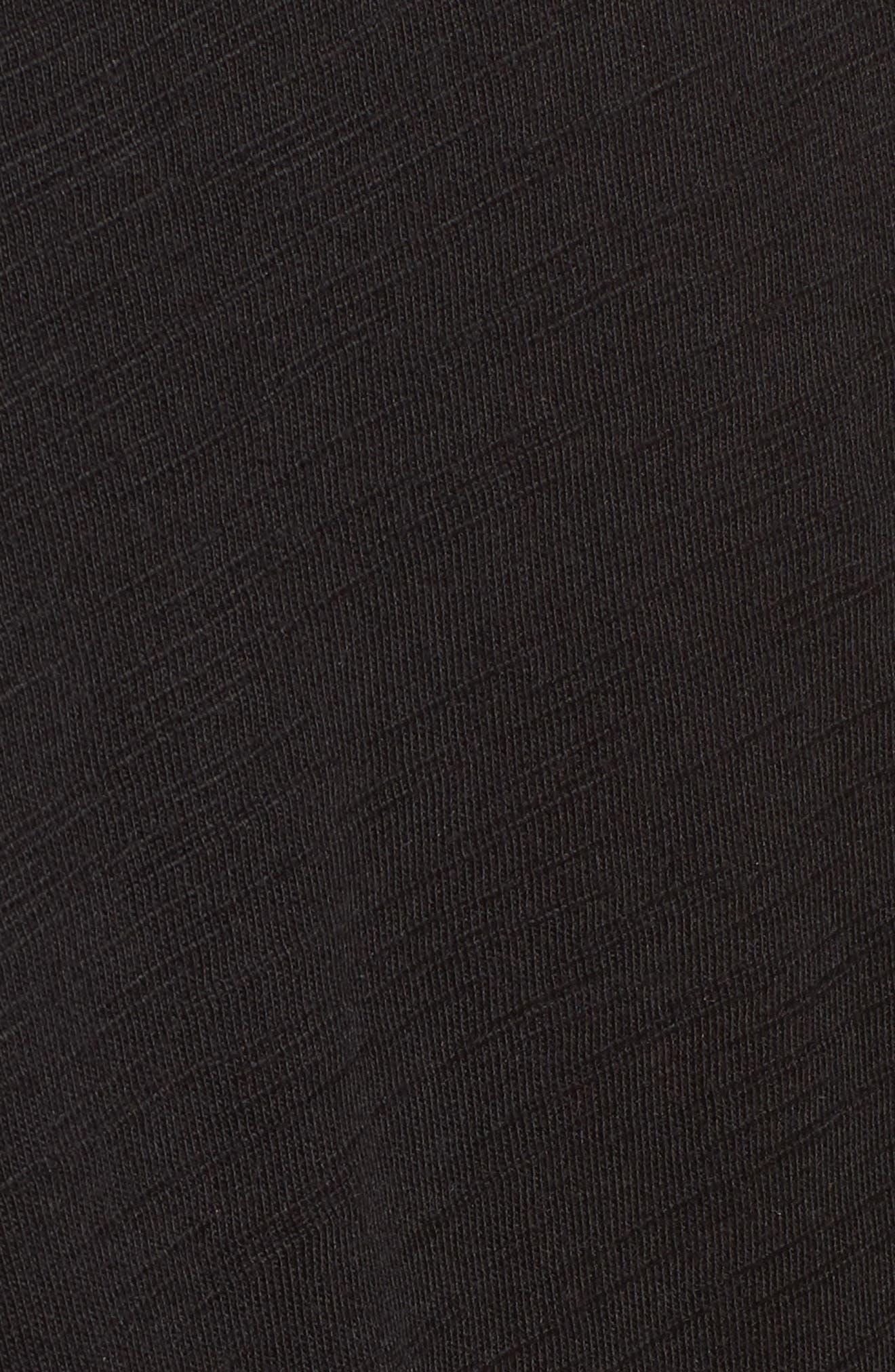 Twist Front Knit Dress,                             Alternate thumbnail 6, color,                             001