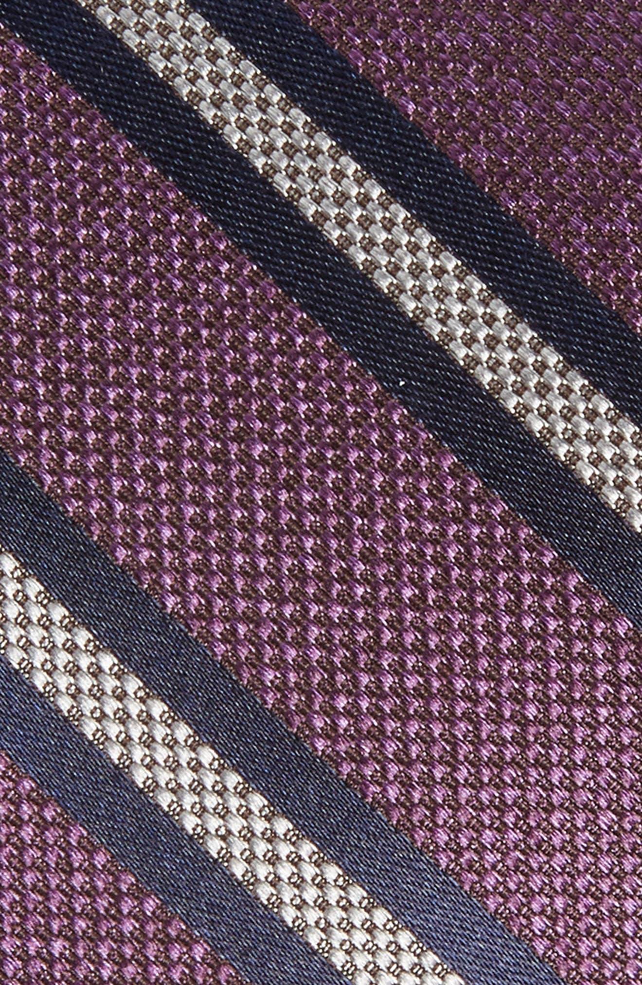 Oxford Stripe Silk Tie,                             Alternate thumbnail 4, color,