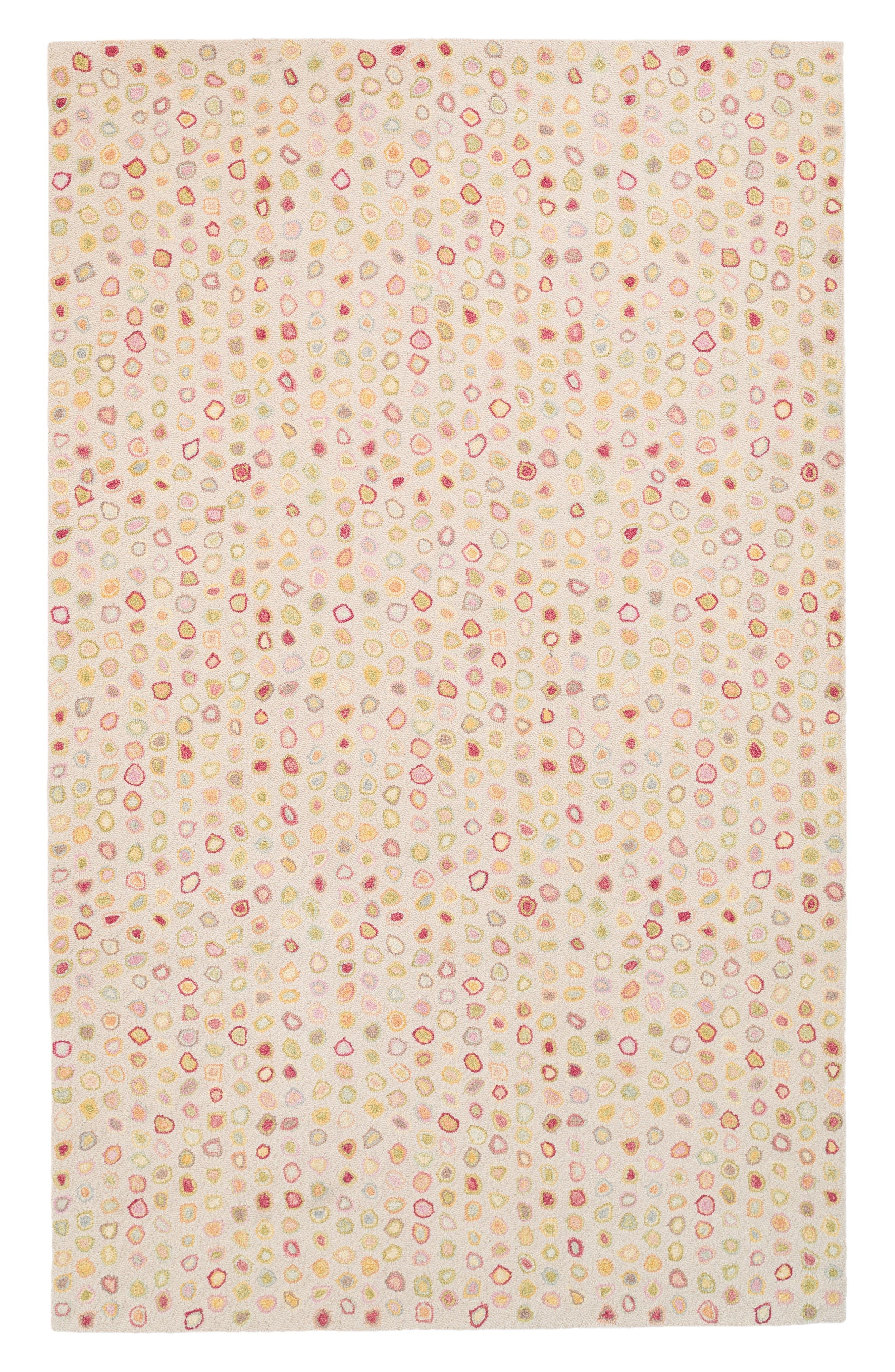 Cat's Paw Pastel Wool Rug,                             Main thumbnail 1, color,                             PINK