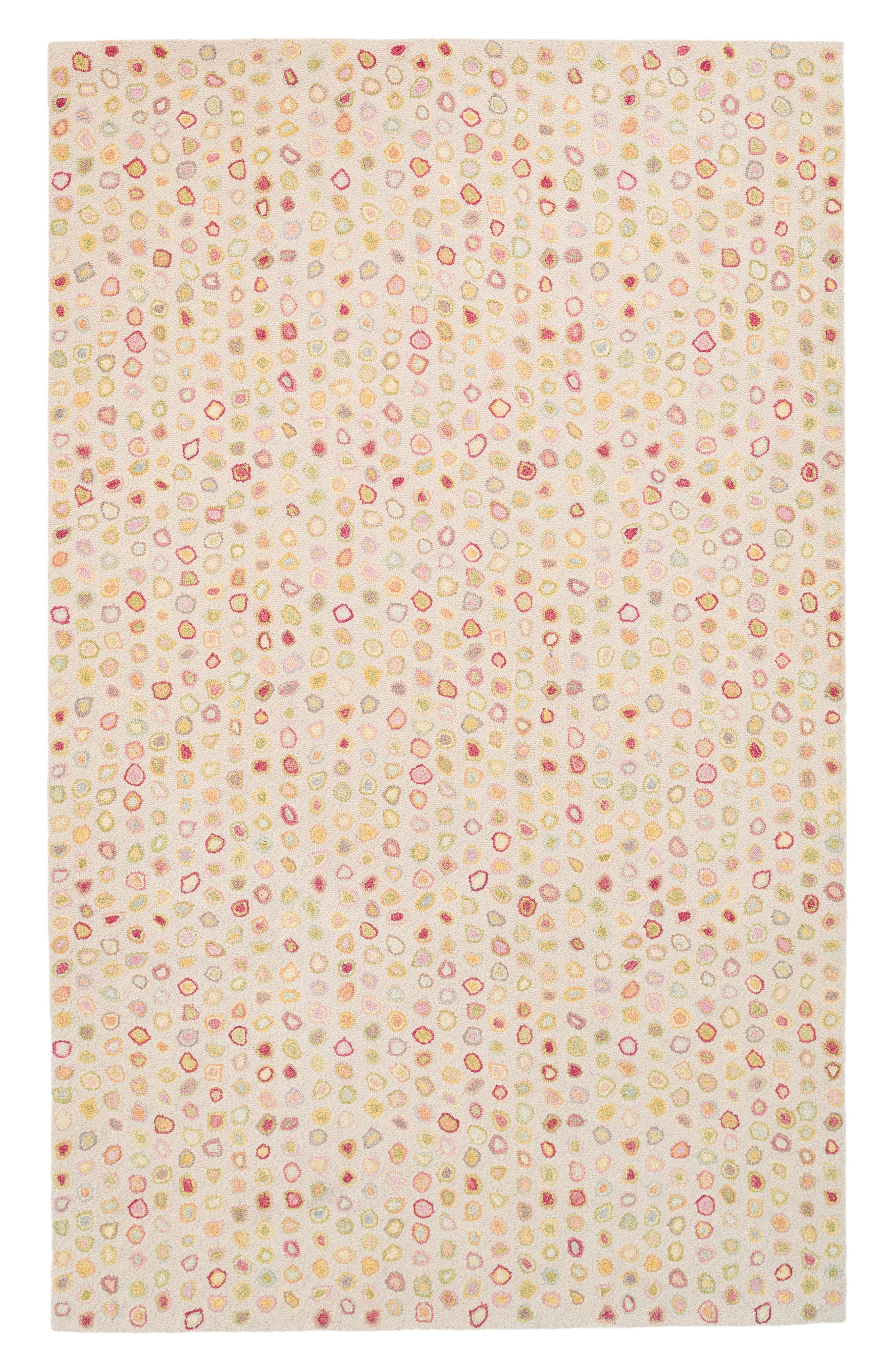 Cat's Paw Pastel Wool Rug,                         Main,                         color, PINK