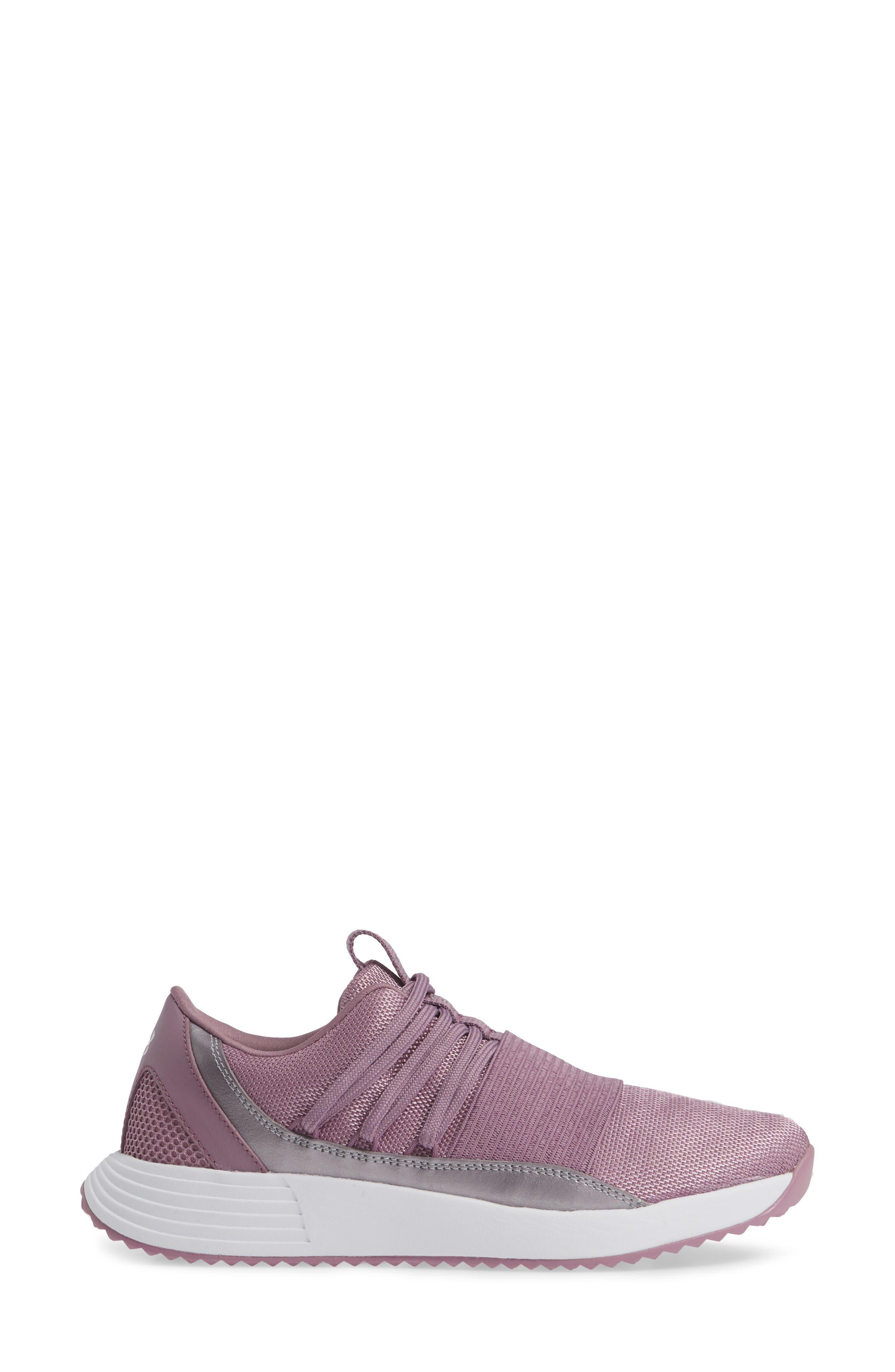 Breathe Lace X NM Sneaker,                             Alternate thumbnail 3, color,                             PURPLE PRIME/ WHITE/ WHITE