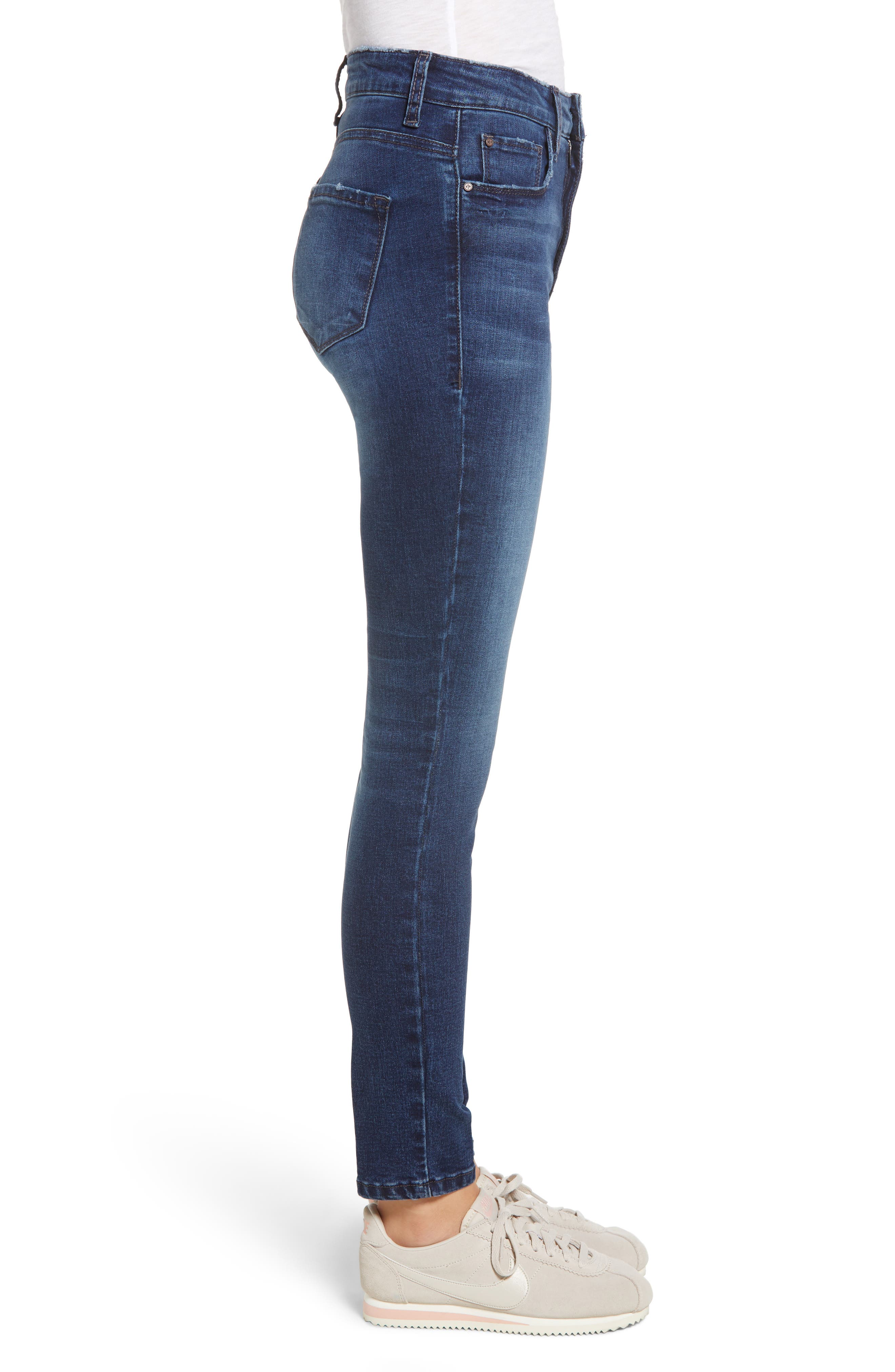 BP.,                             High Rise Skinny Ankle Jeans,                             Alternate thumbnail 3, color,                             MEDIUM WASH