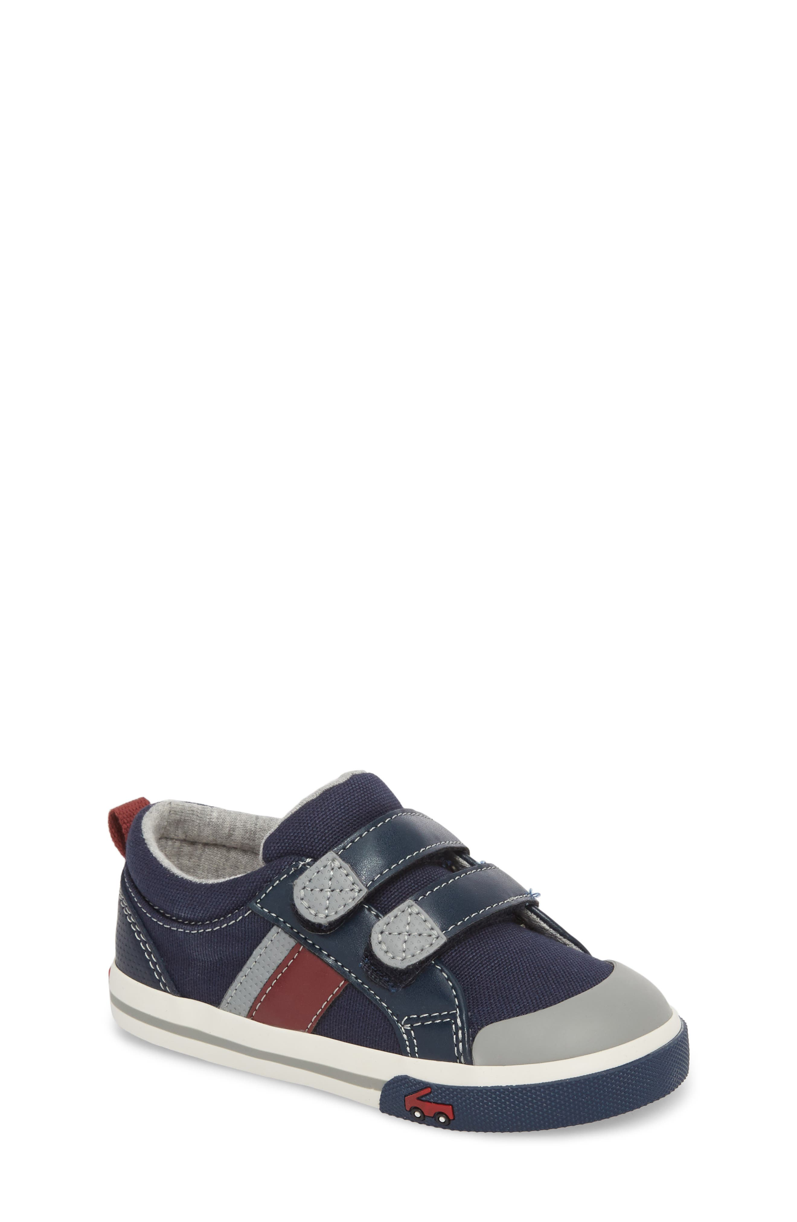 'Russell' Sneaker,                         Main,                         color, NAVY/ RED