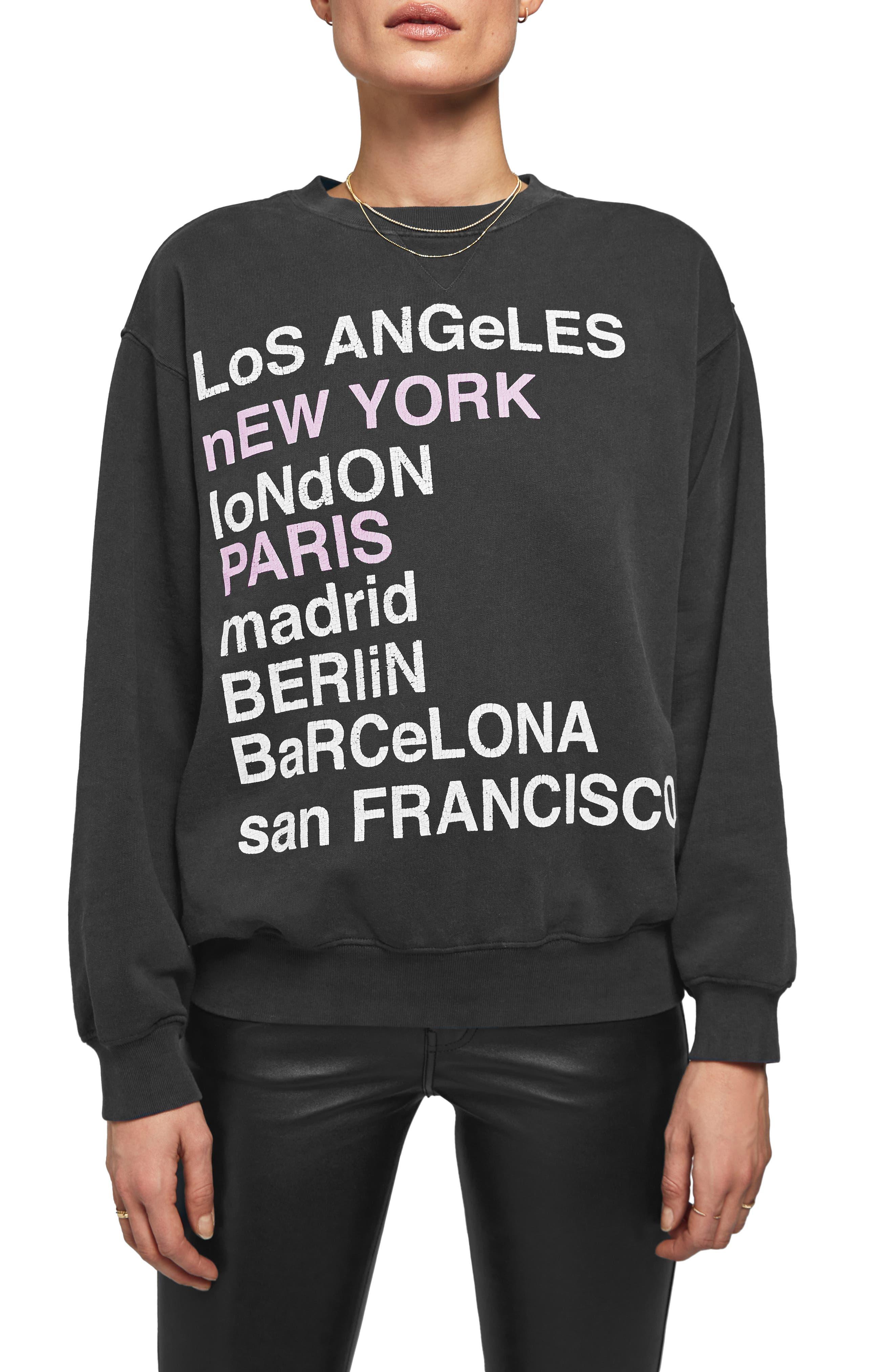 City Love Sweatshirt,                             Main thumbnail 1, color,                             CHARCOAL