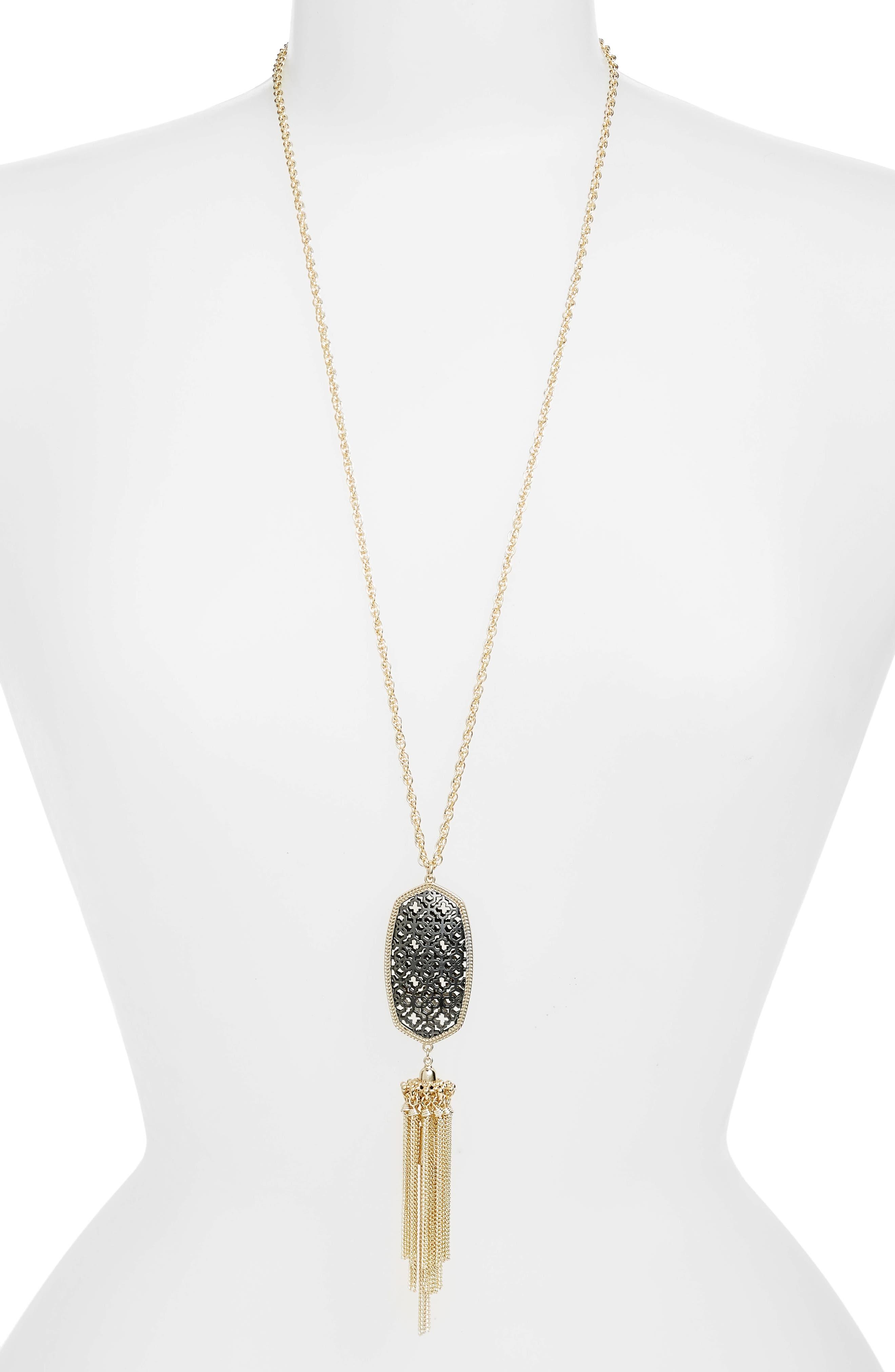 Rayne Stone Tassel Pendant Necklace,                             Main thumbnail 30, color,