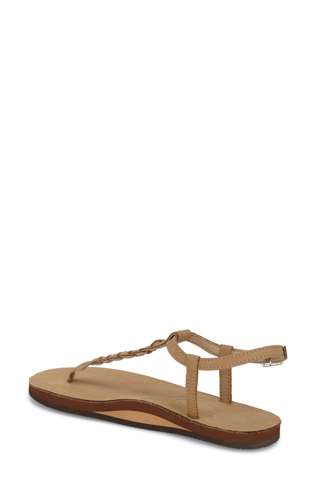 'T-Street' Braided T-Strap Sandal,                             Alternate thumbnail 8, color,