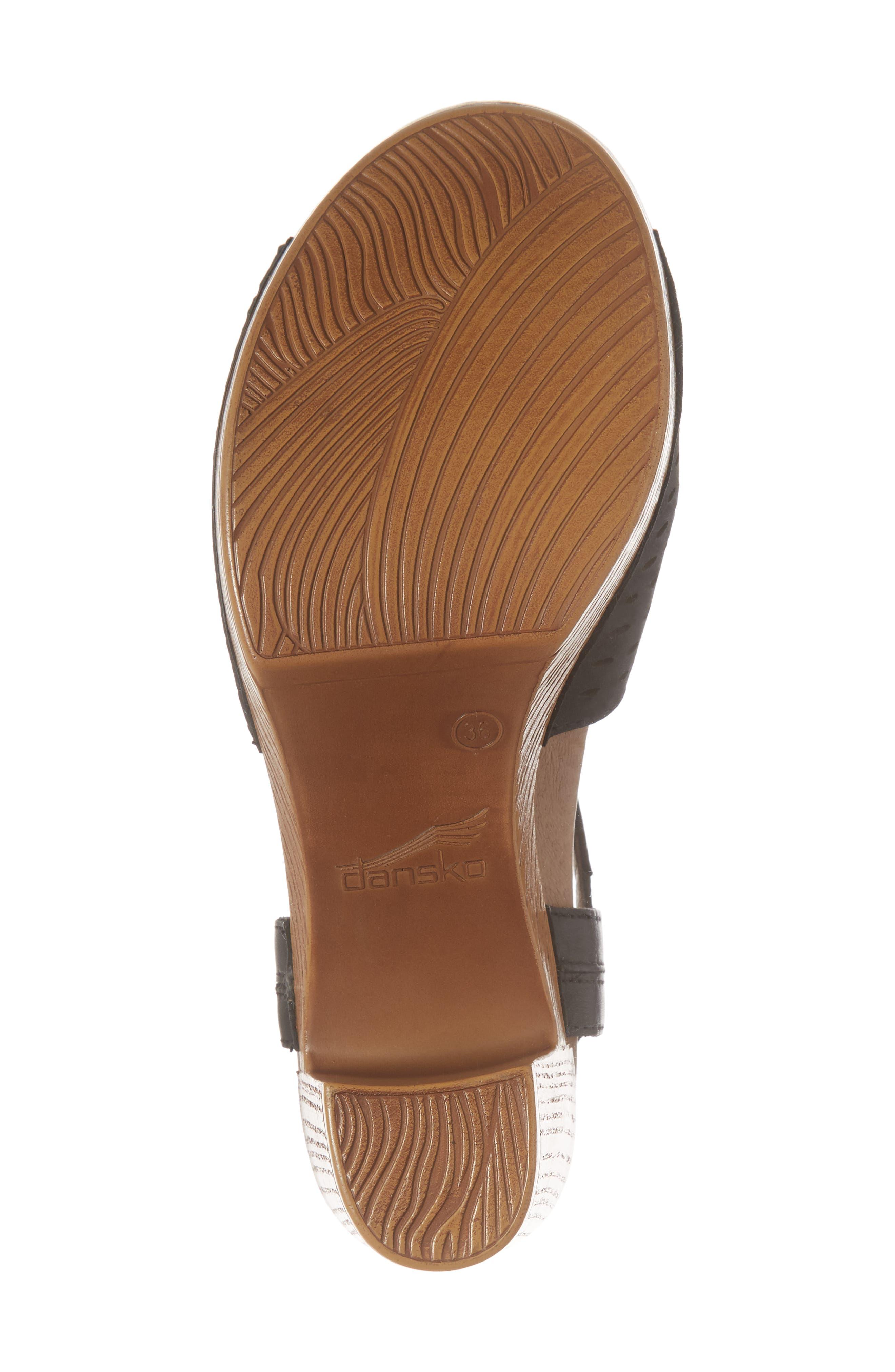 Denita Block Heel Sandal,                             Alternate thumbnail 6, color,                             001