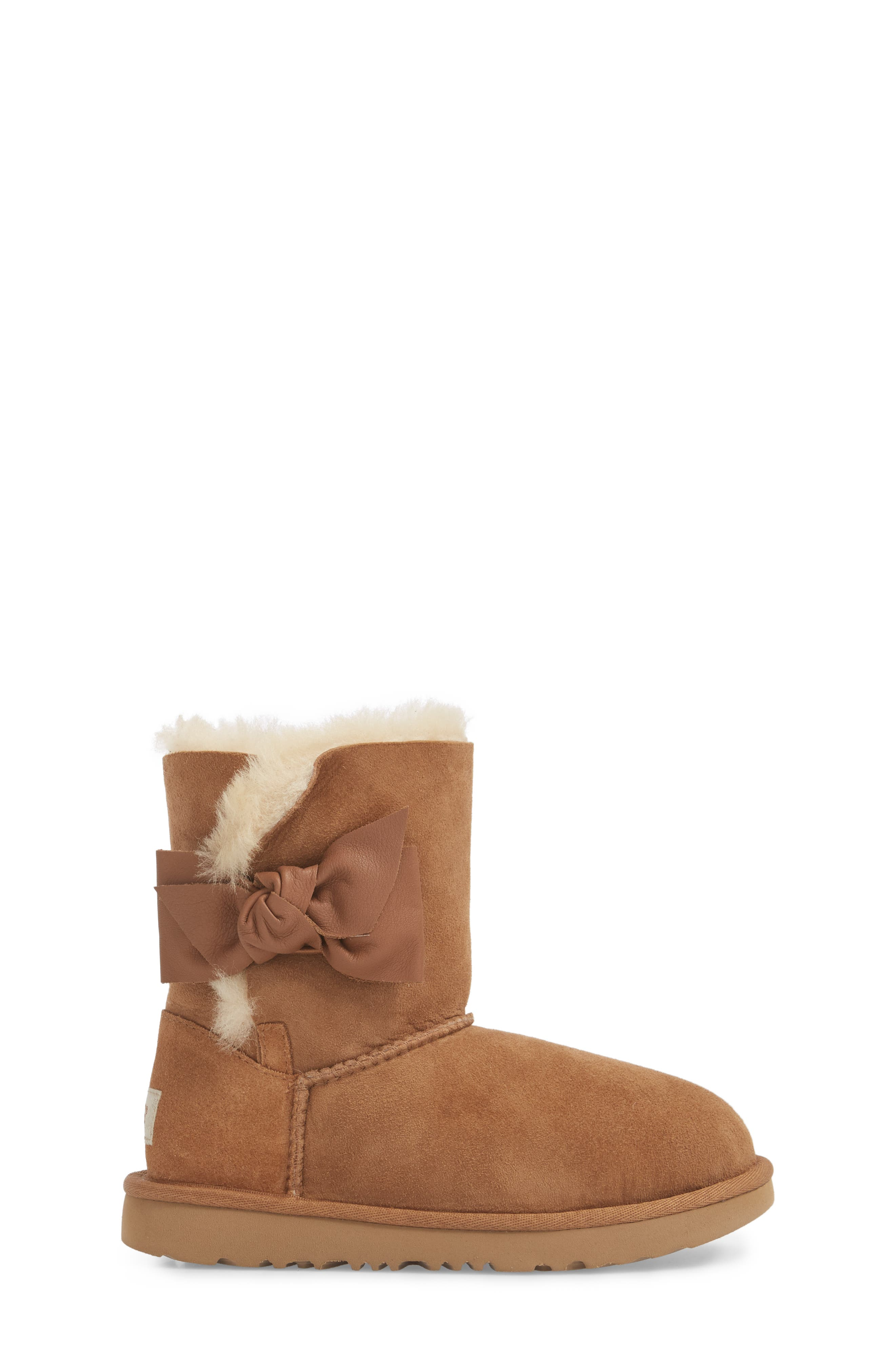 UGG<SUP>®</SUP>,                             Daelynn Bow Genuine Shearling Boot,                             Alternate thumbnail 3, color,                             219