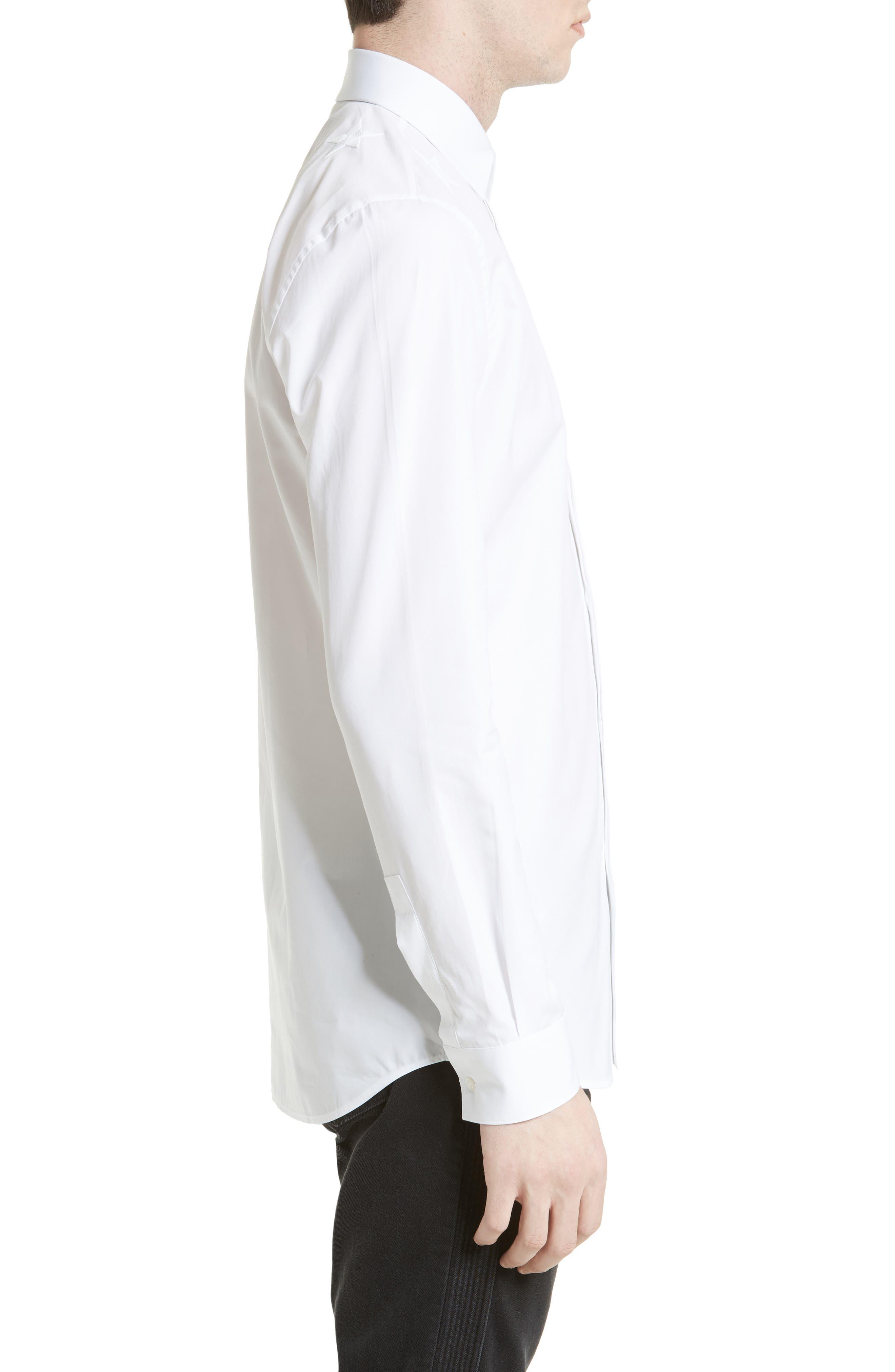 Tonal Star Embroidered Sport Shirt,                             Alternate thumbnail 4, color,                             100
