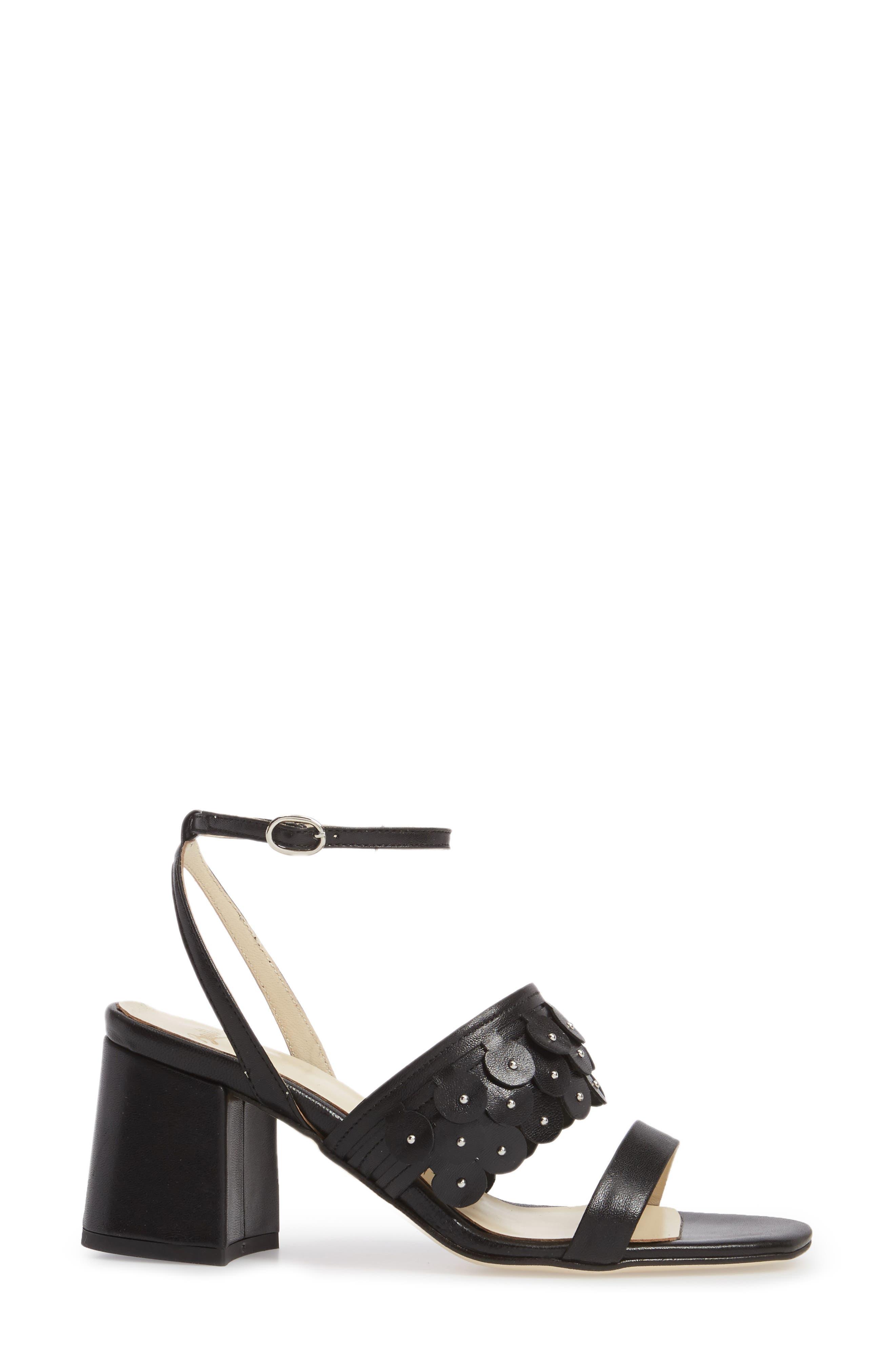 Butter Finley Studded Ankle Strap Sandal,                             Alternate thumbnail 3, color,                             001