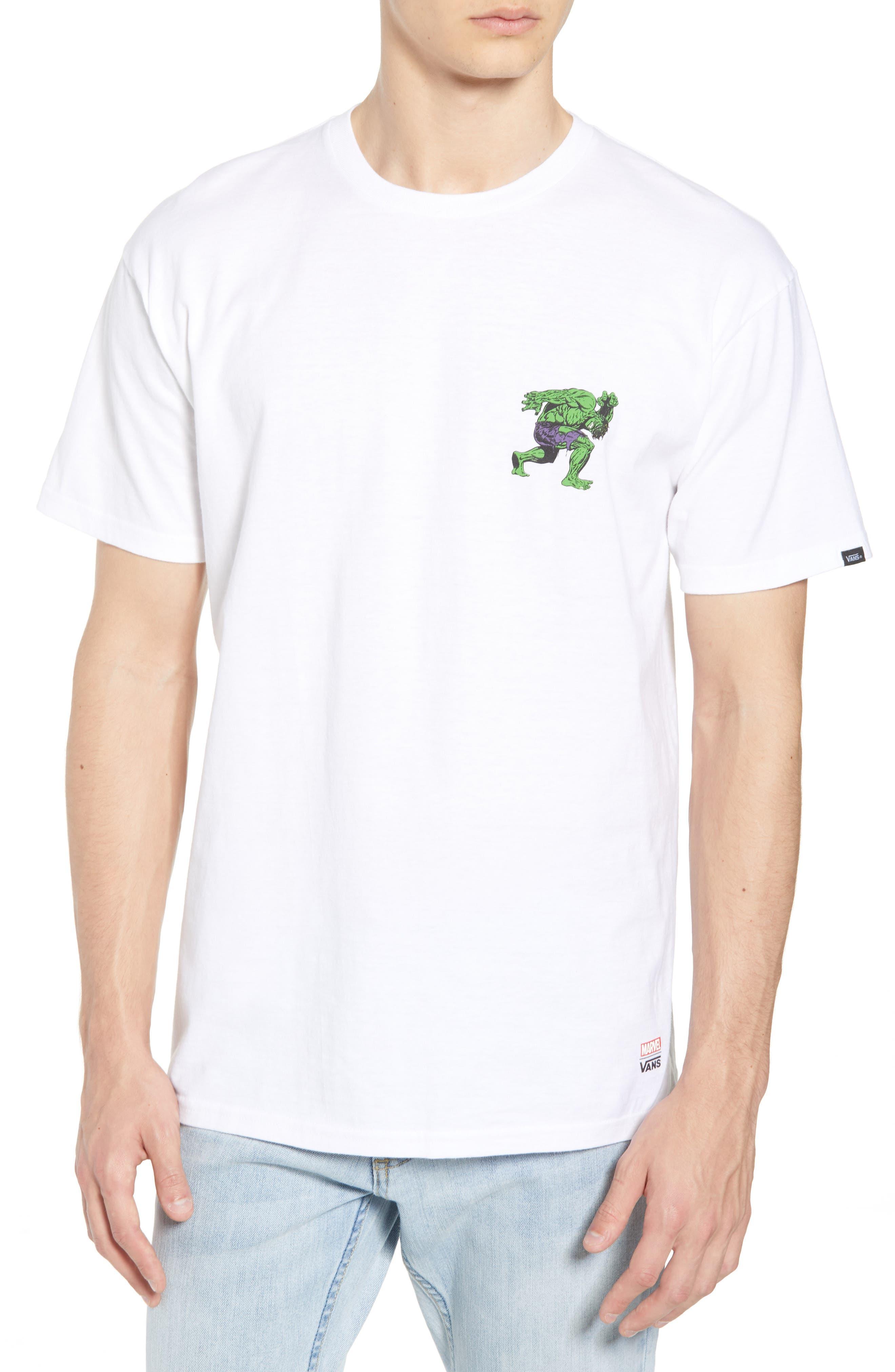x Marvel<sup>®</sup> Hulk T-Shirt,                             Main thumbnail 1, color,                             WHITE