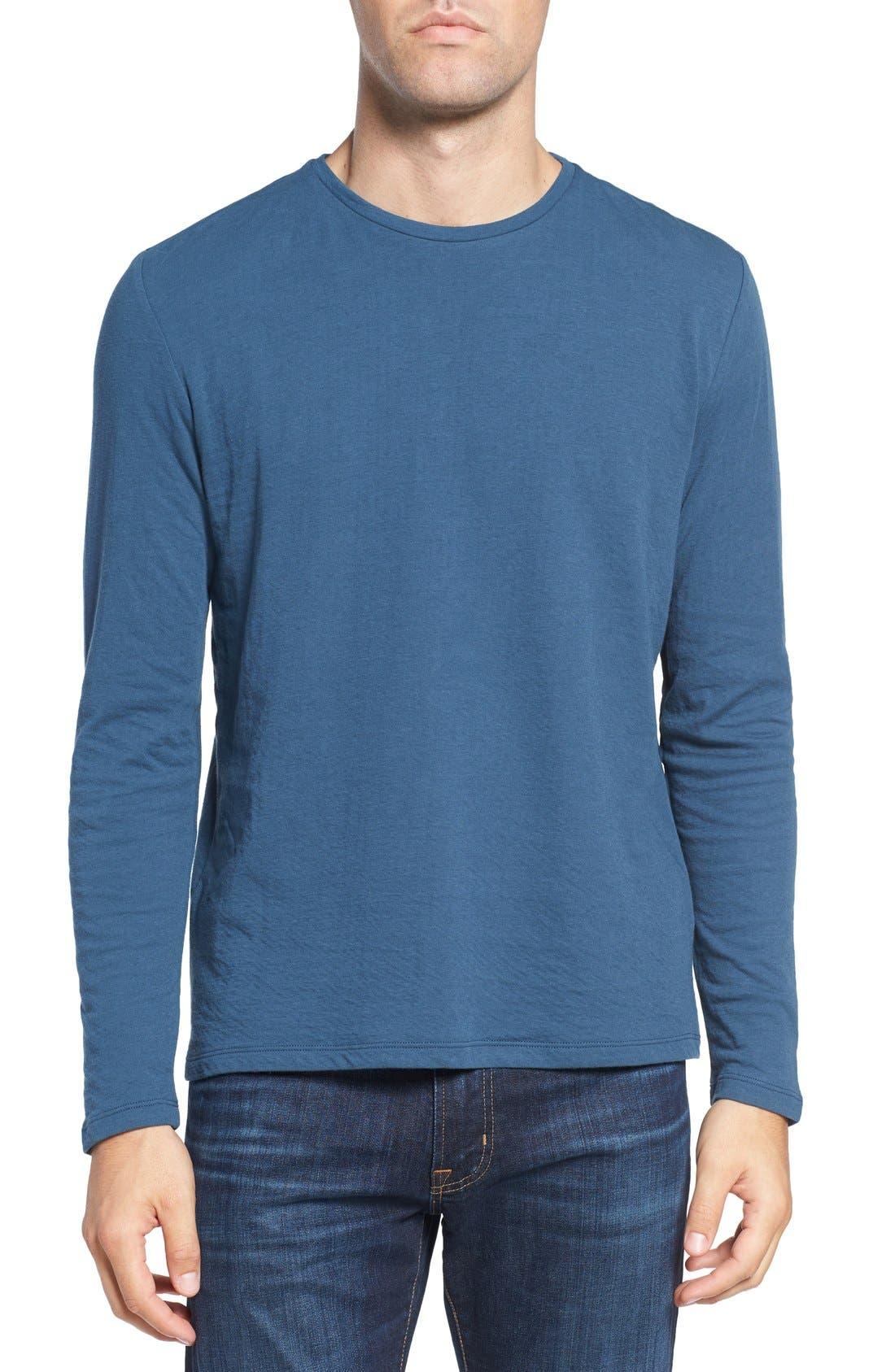 Long Sleeve Crewneck T-Shirt,                             Main thumbnail 3, color,