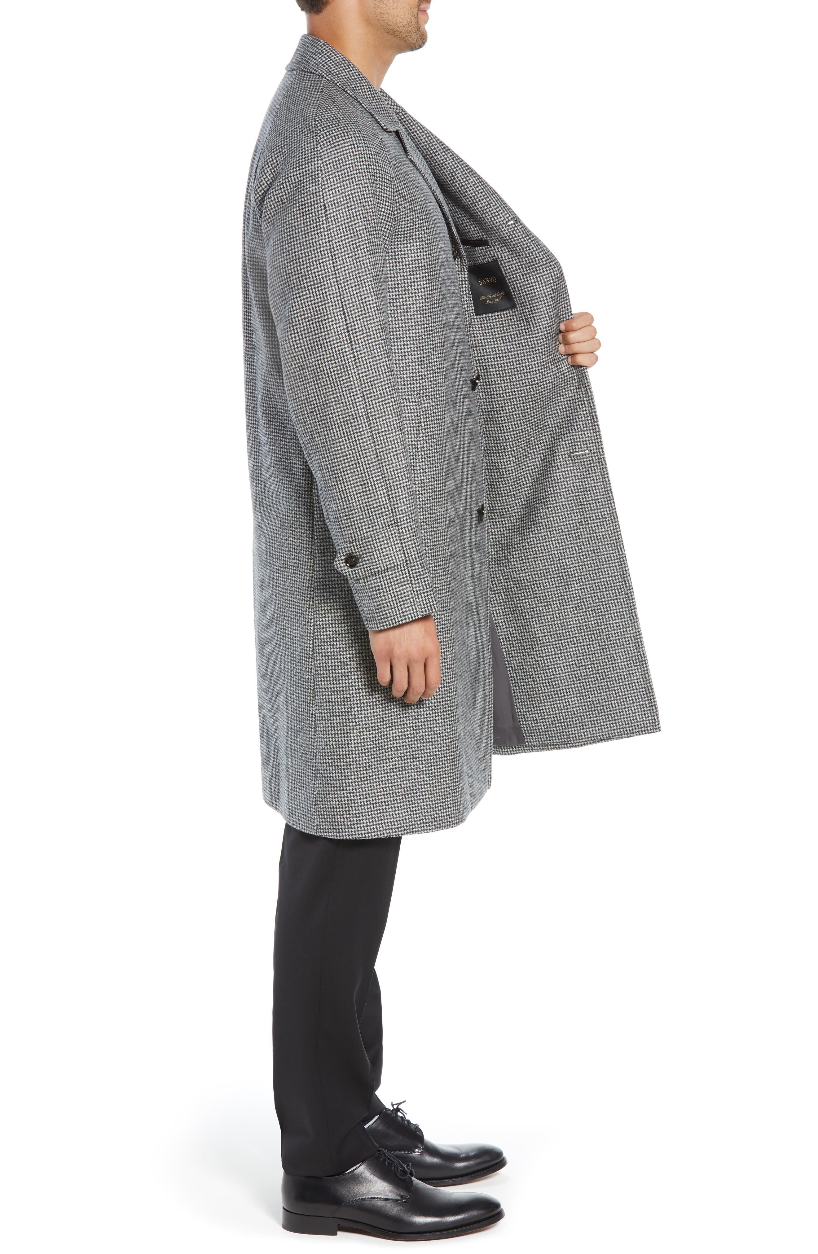 Wool Top Coat,                             Alternate thumbnail 3, color,                             GREY