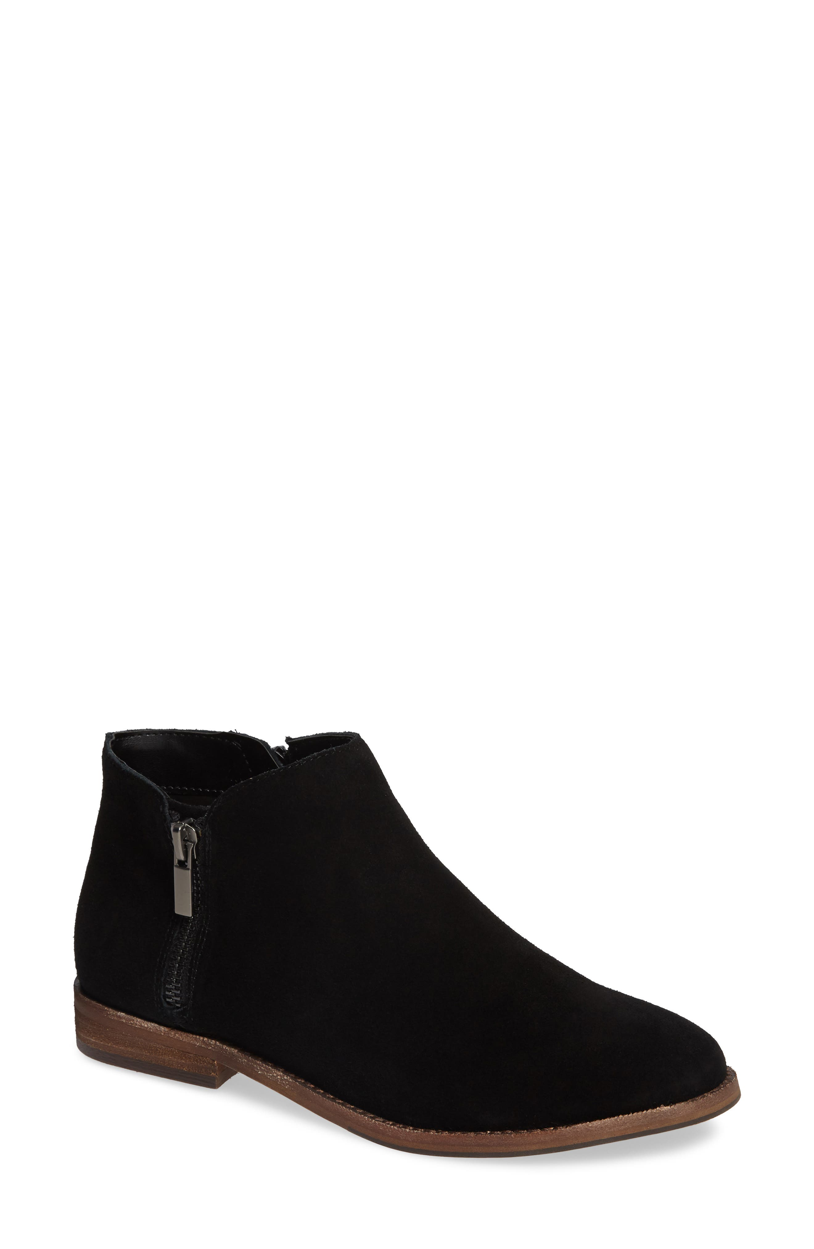 Bevlyn Bootie,                             Main thumbnail 1, color,                             BLACK SUEDE