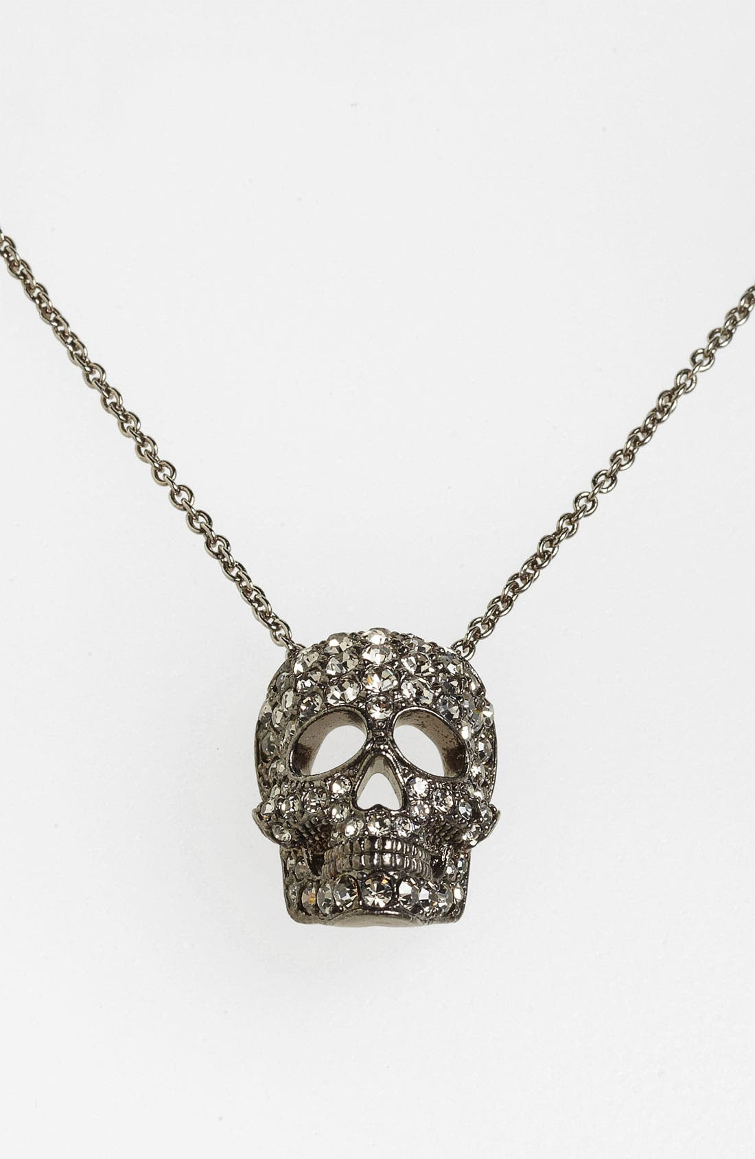 'Skull' Pendant Necklace,                             Main thumbnail 1, color,                             001