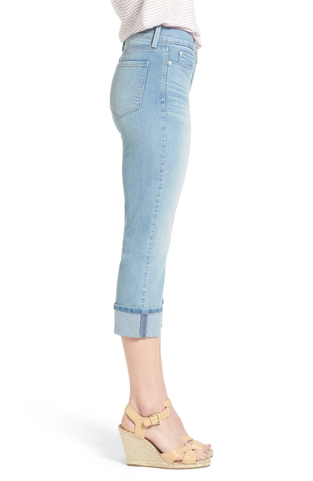 'Dayla' Colored Wide Cuff Capri Jeans,                             Alternate thumbnail 68, color,