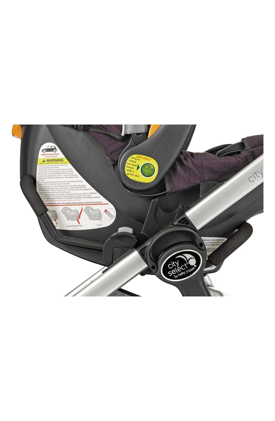 Single City Select<sup>®</sup>/City Premier<sup>®</sup> Stroller to Chicco KeyFit 30 & Peg-Perego Primo Viaggio Car Seat Adapter,                             Main thumbnail 1, color,                             BLACK