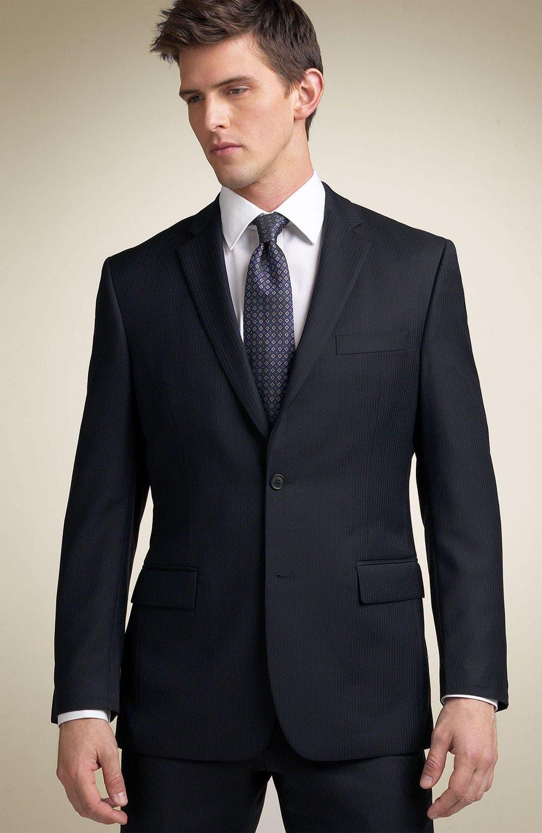 JOHN VARVATOS STAR USA,                             'Sullivan' Suit,                             Main thumbnail 1, color,                             NAV