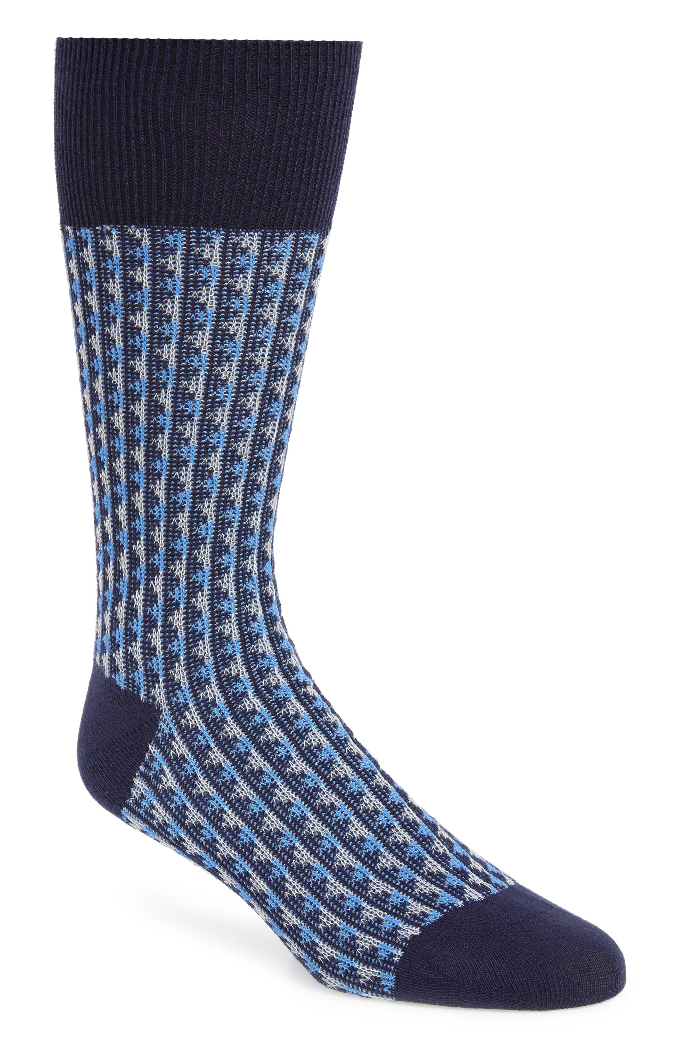 Jacquard Socks,                         Main,                         color, BLUE