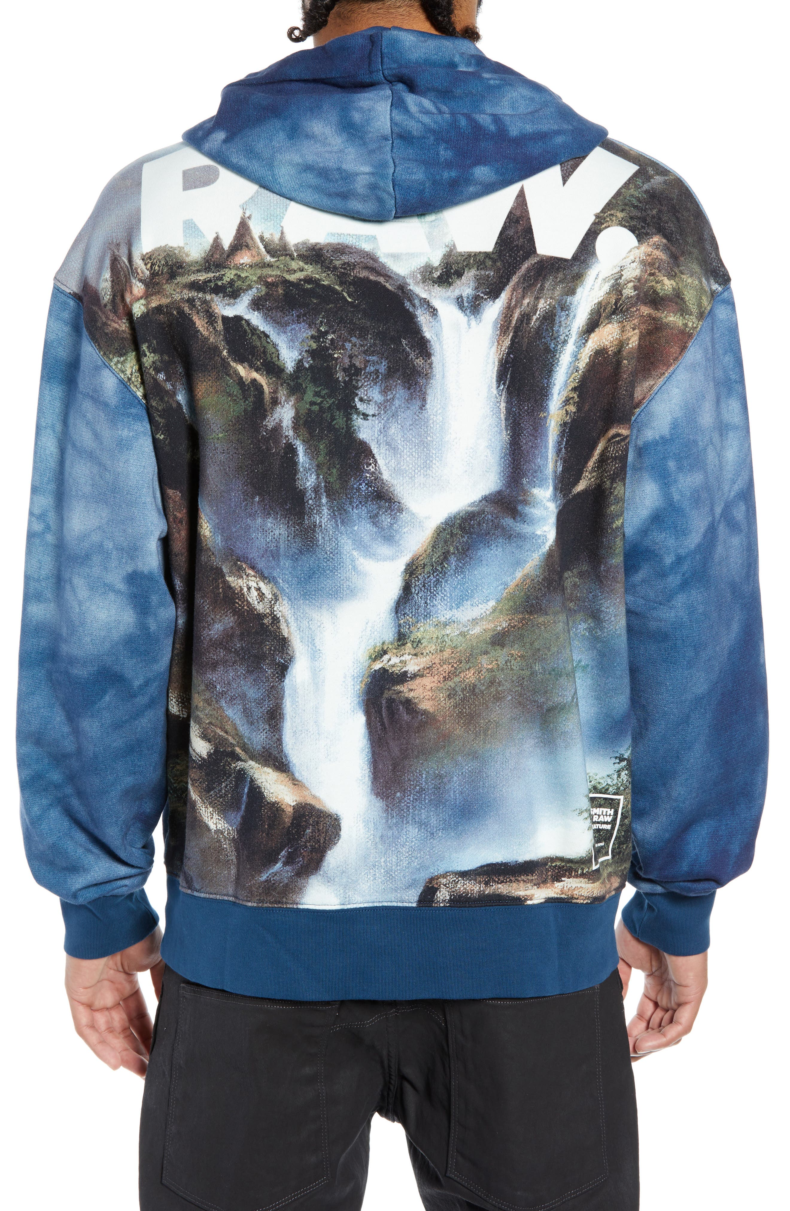 Cryrer Waterfall Hooded Sweatshirt,                             Alternate thumbnail 2, color,                             TEAL BLUE