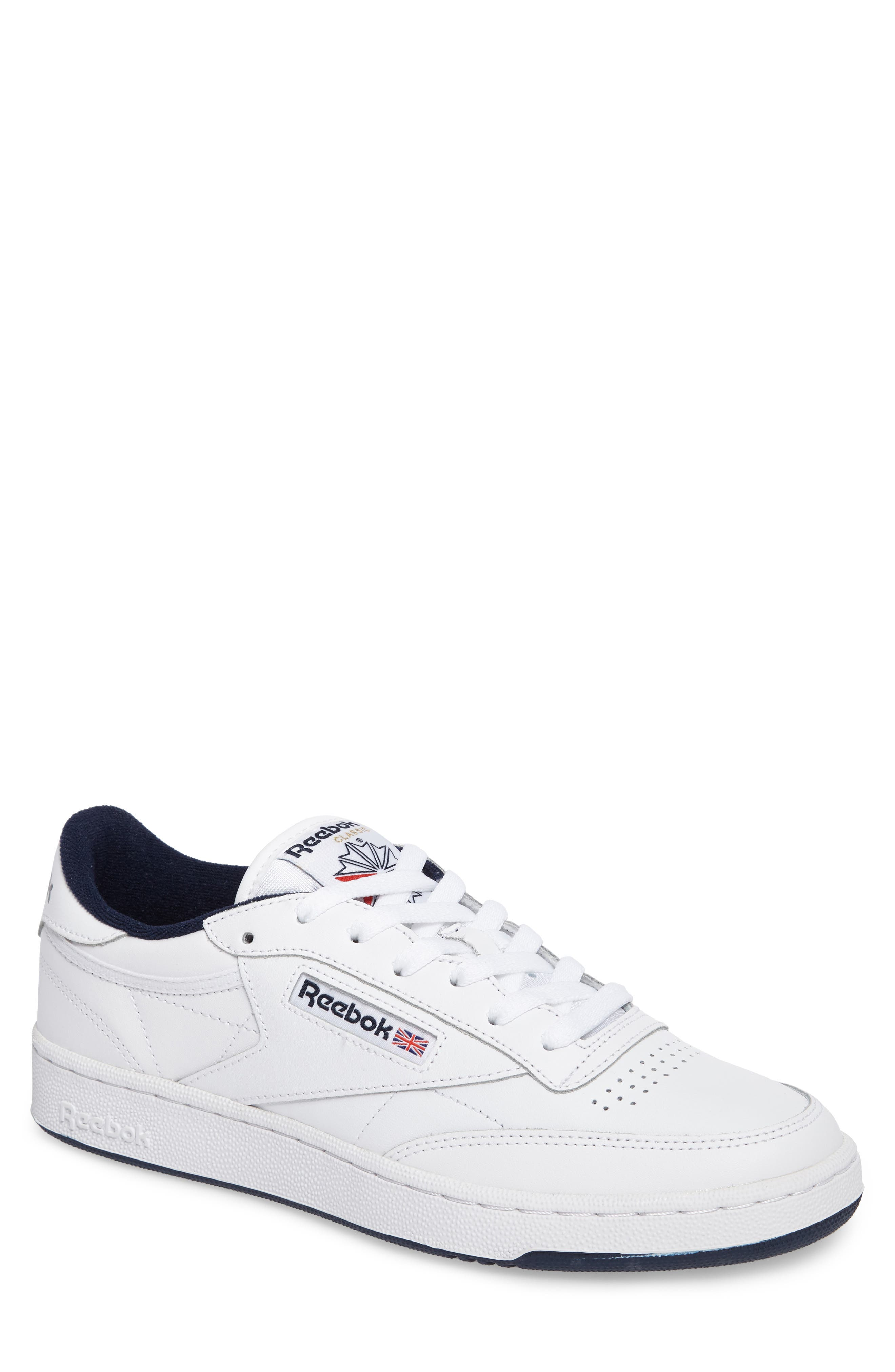 Club C 85 Sneaker,                         Main,                         color, WHITE/ NAVY