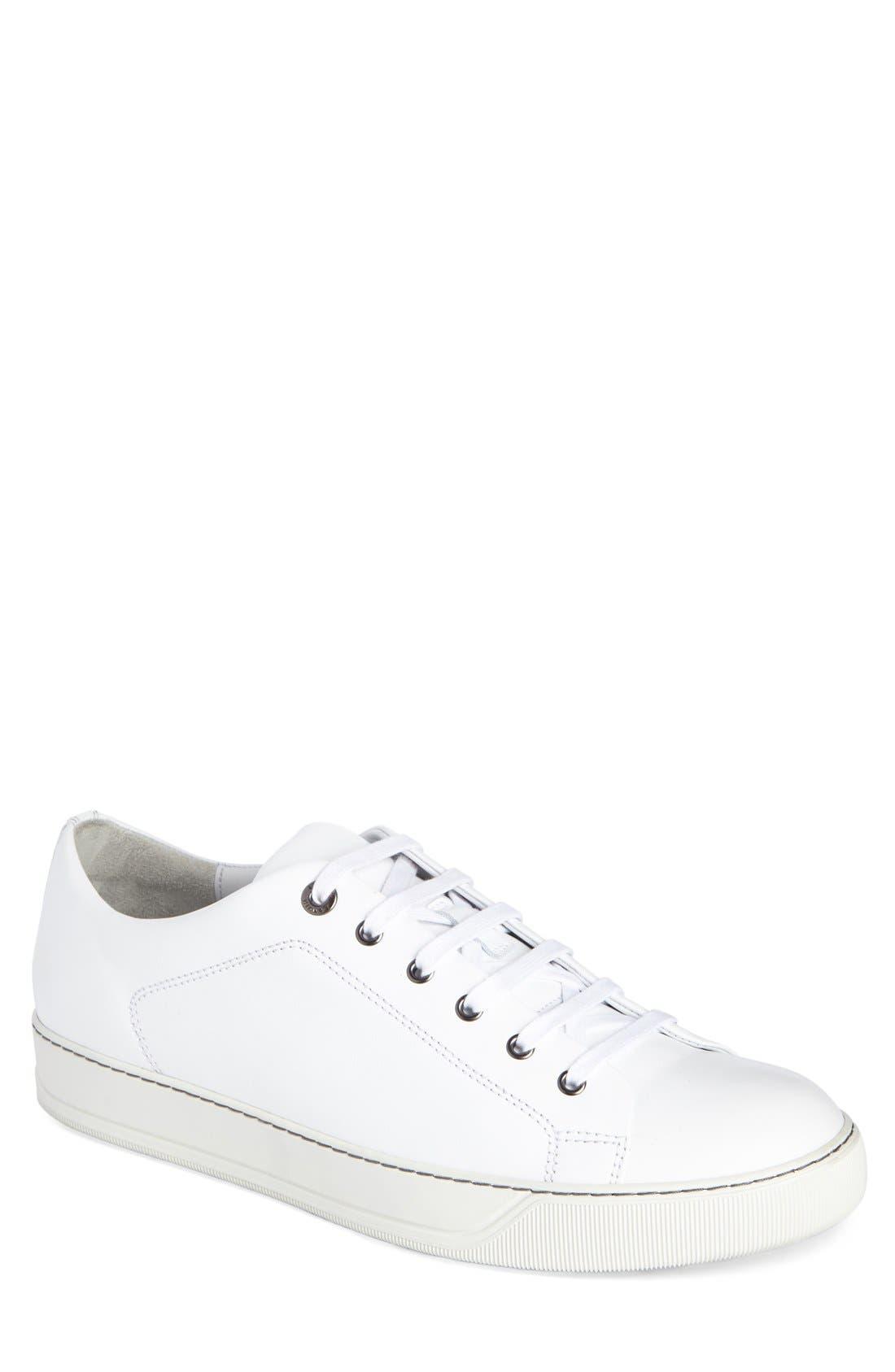 Low Top Cap Toe Sneaker,                             Main thumbnail 1, color,                             101