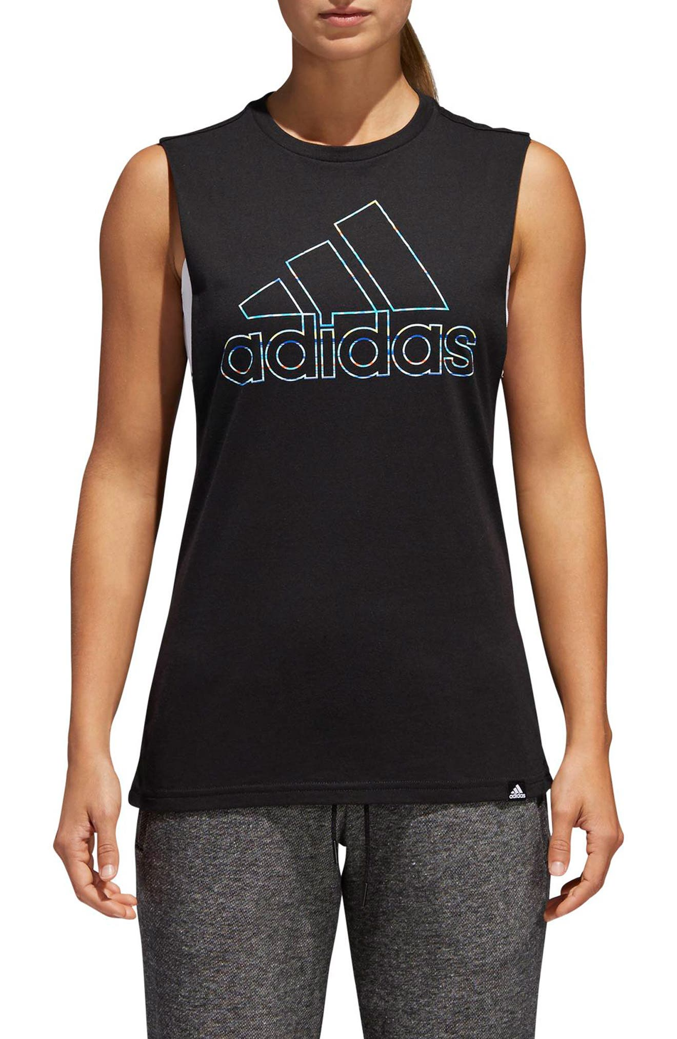Muscle Logo Tank,                             Main thumbnail 1, color,