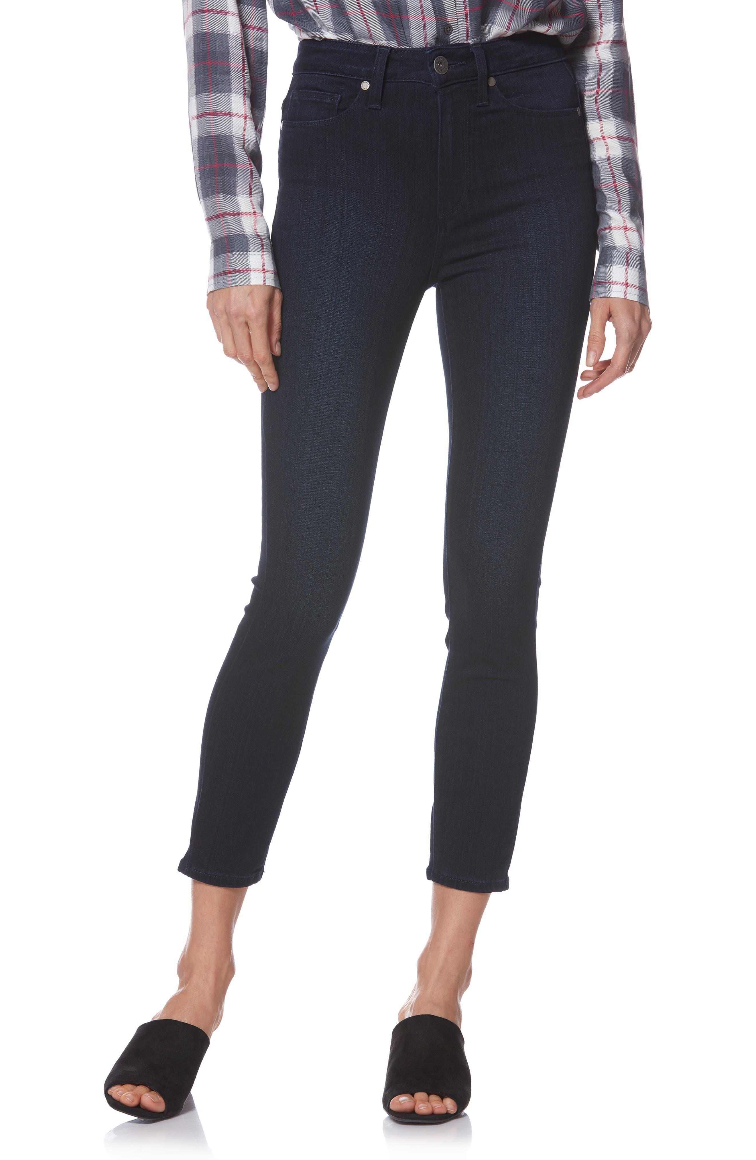 Transcend - Margot High Waist Crop Skinny Jeans,                             Main thumbnail 1, color,                             LANA