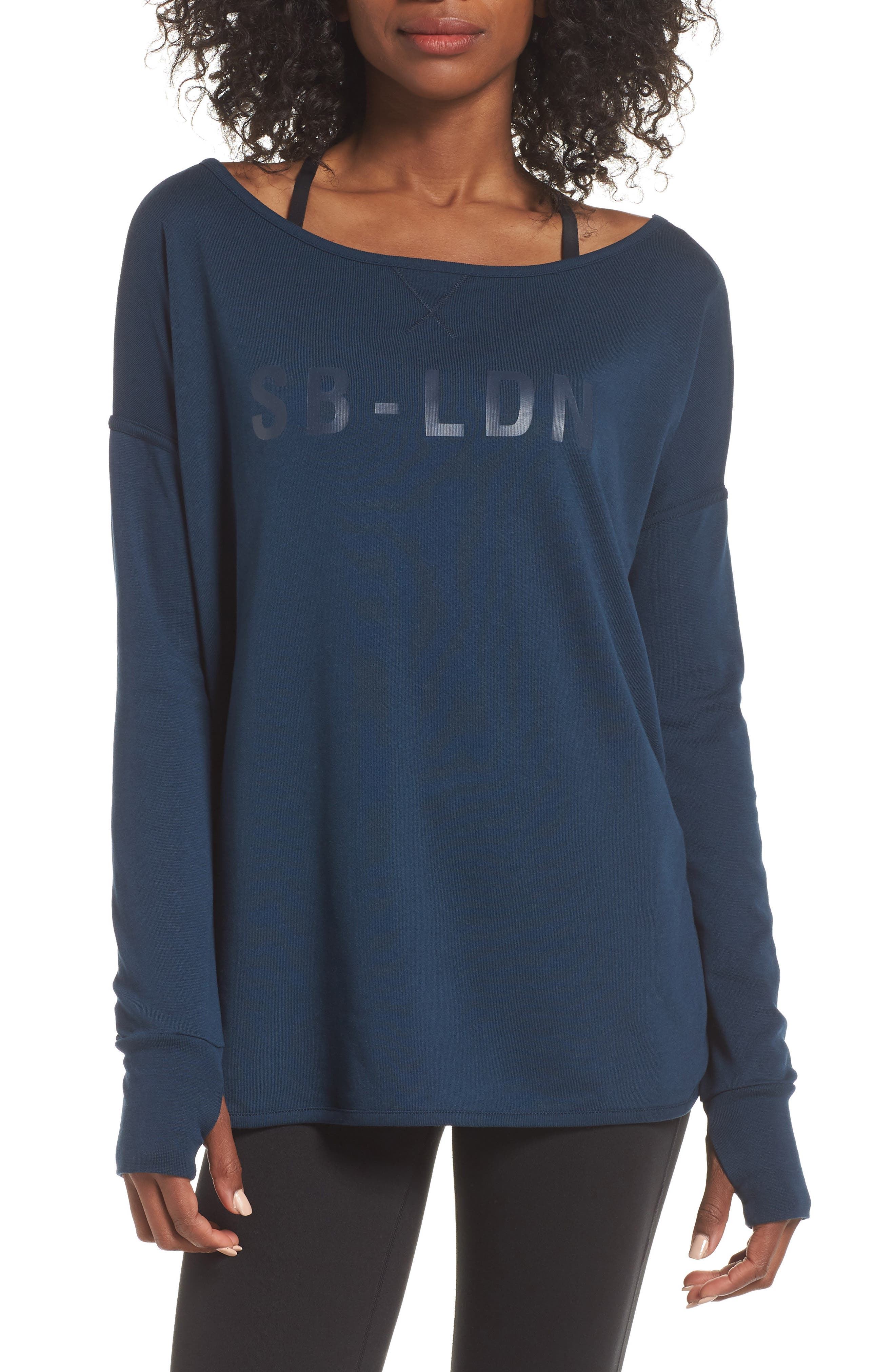 Simhasana Sweatshirt,                         Main,                         color, BEETLE BLUE