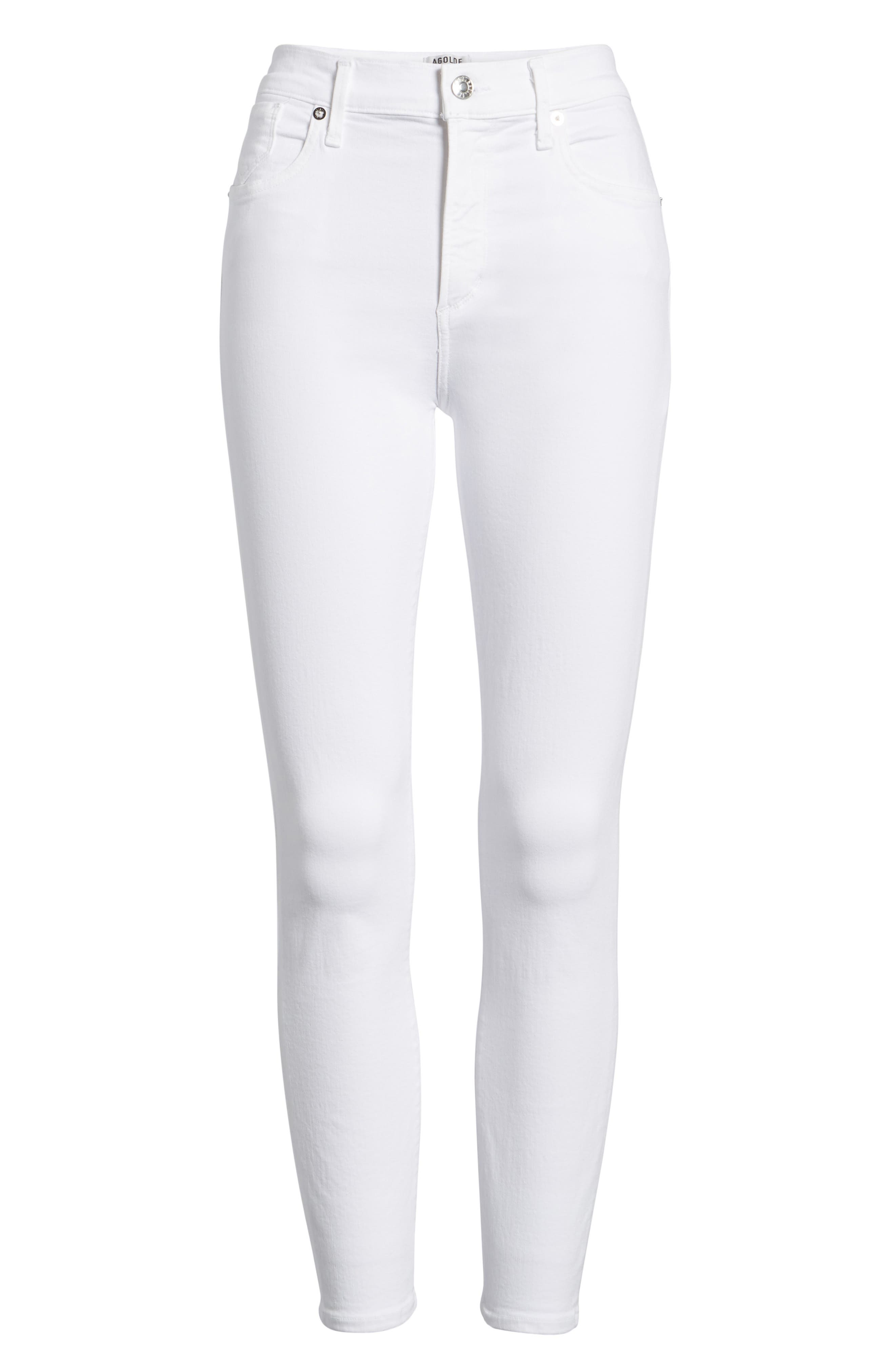 Sophie High Waist Ankle Skinny Jeans,                             Alternate thumbnail 7, color,                             VIXEN