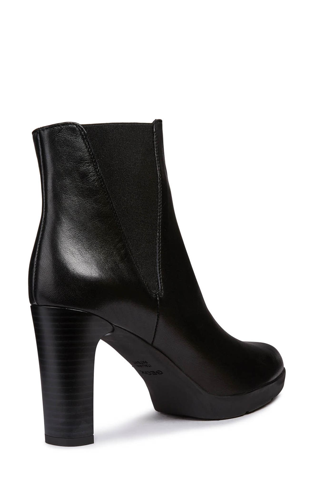 Annya Bootie,                             Alternate thumbnail 6, color,                             BLACK LEATHER