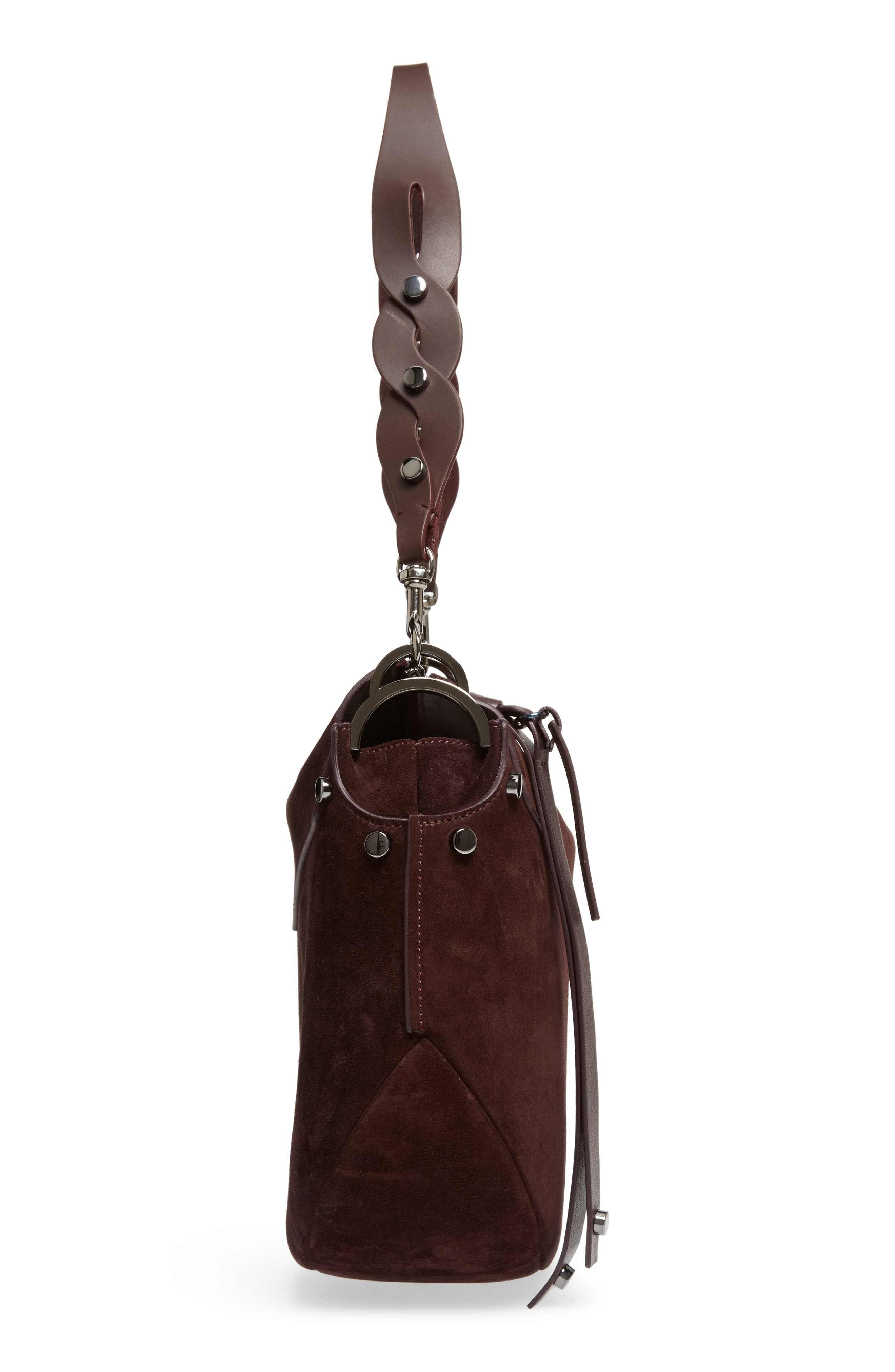 Artie Suede Hobo Bag,                             Alternate thumbnail 17, color,