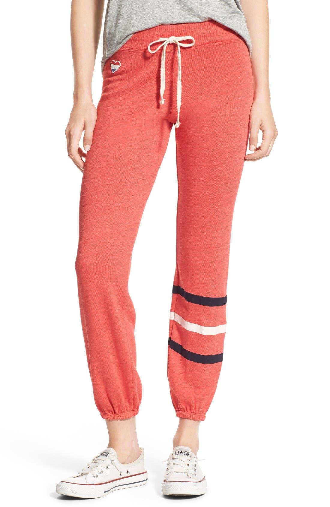 Heart & Stripes Sweatpants, Main, color, 800