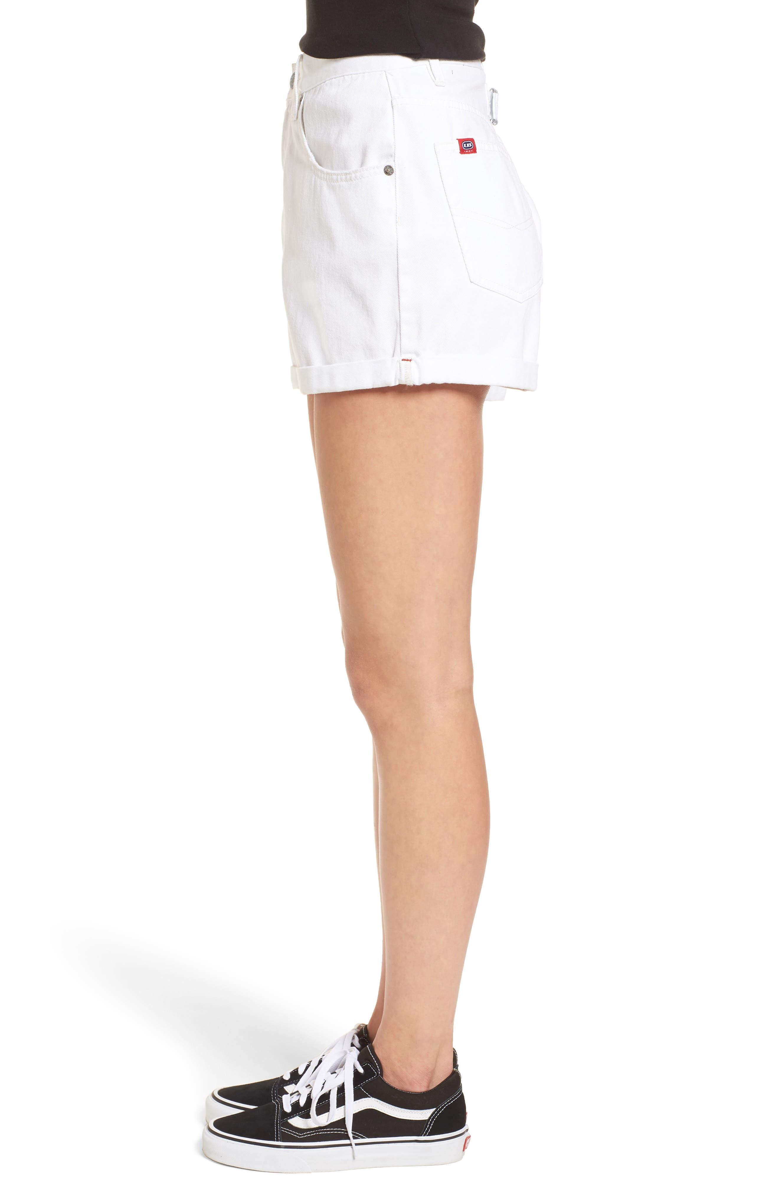 Unionbay UB Tab Denim Shorts,                             Alternate thumbnail 3, color,                             100