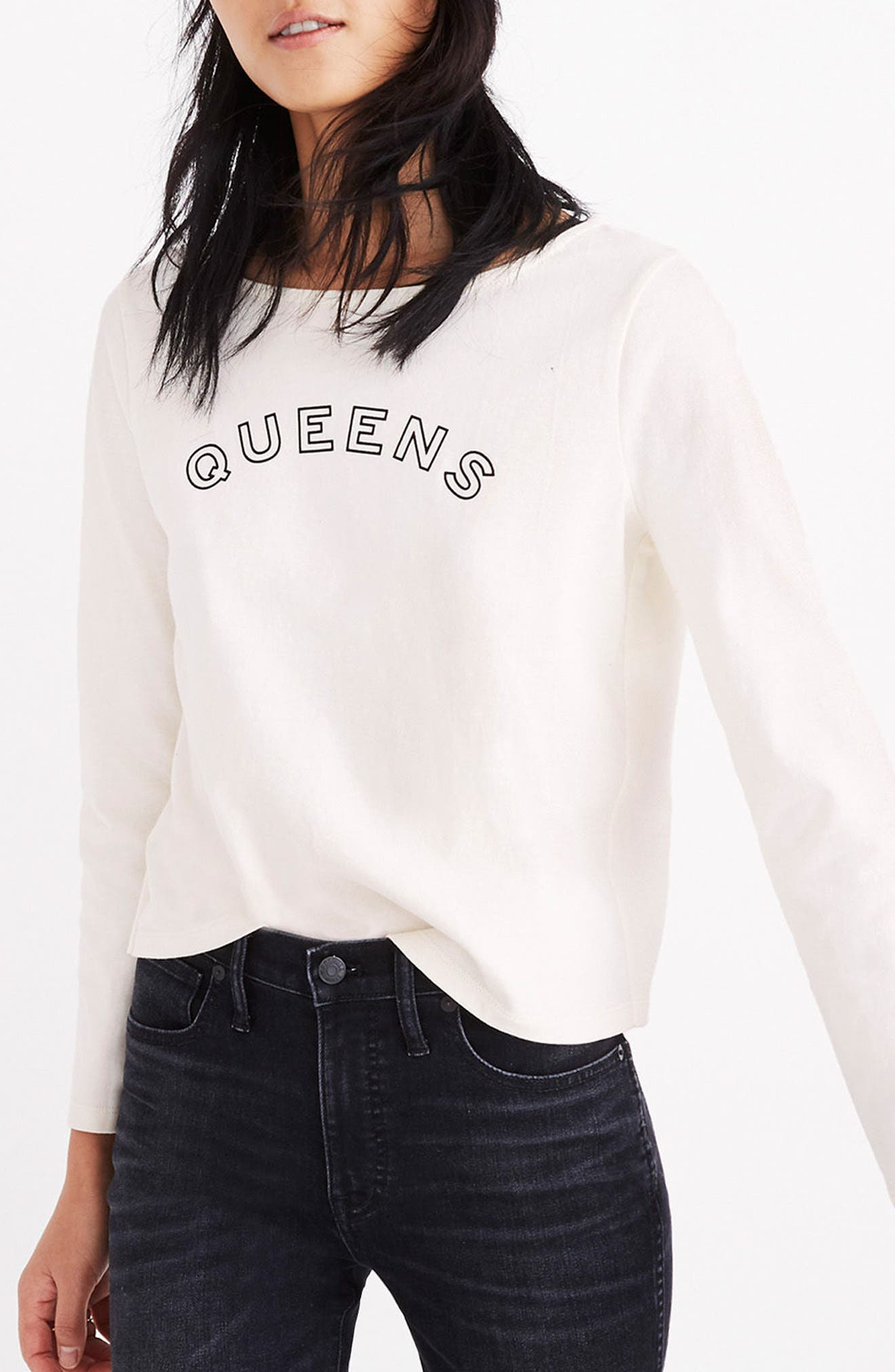 Queens Graphic Tee,                             Alternate thumbnail 4, color,