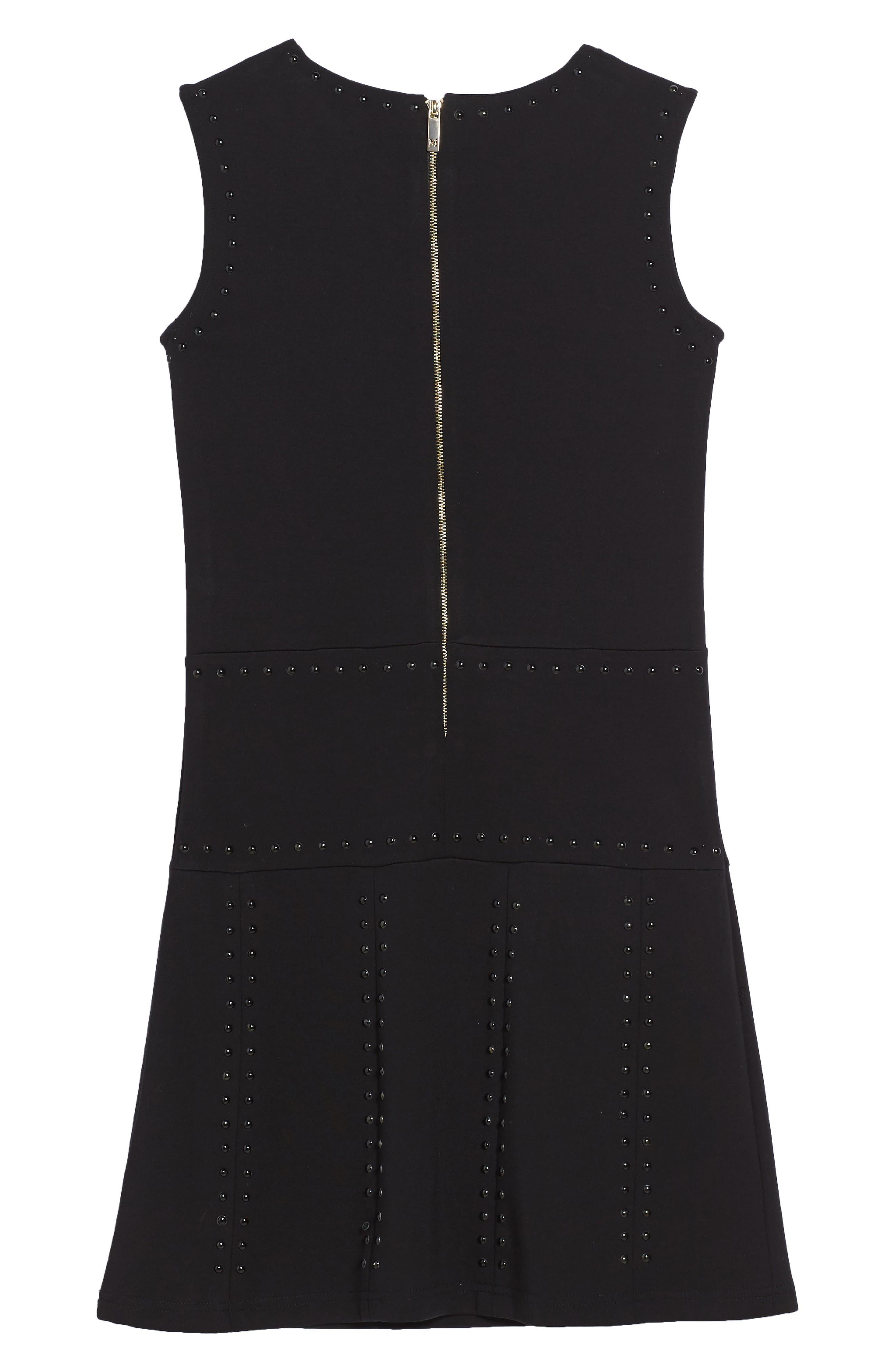 Studded Sleeveless Dress,                             Alternate thumbnail 2, color,                             001