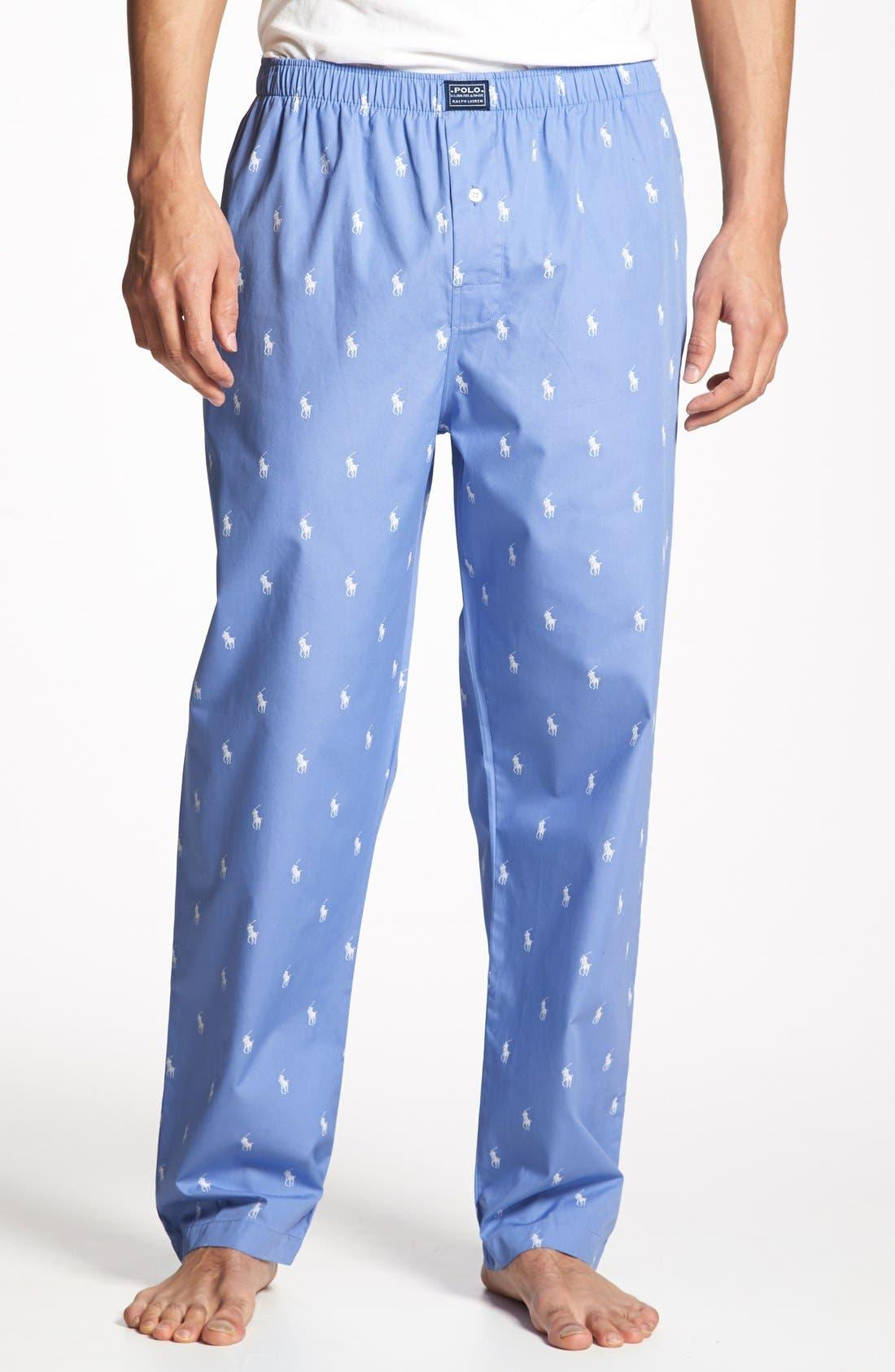 Cotton Lounge Pants,                             Main thumbnail 1, color,                             400