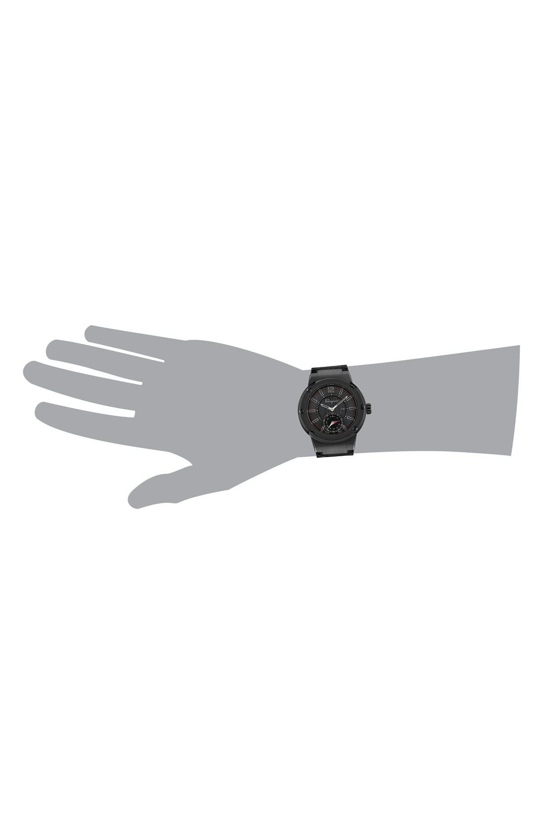 'F-80 Motion' Leather Strap Smart Watch, 44mm,                             Alternate thumbnail 12, color,