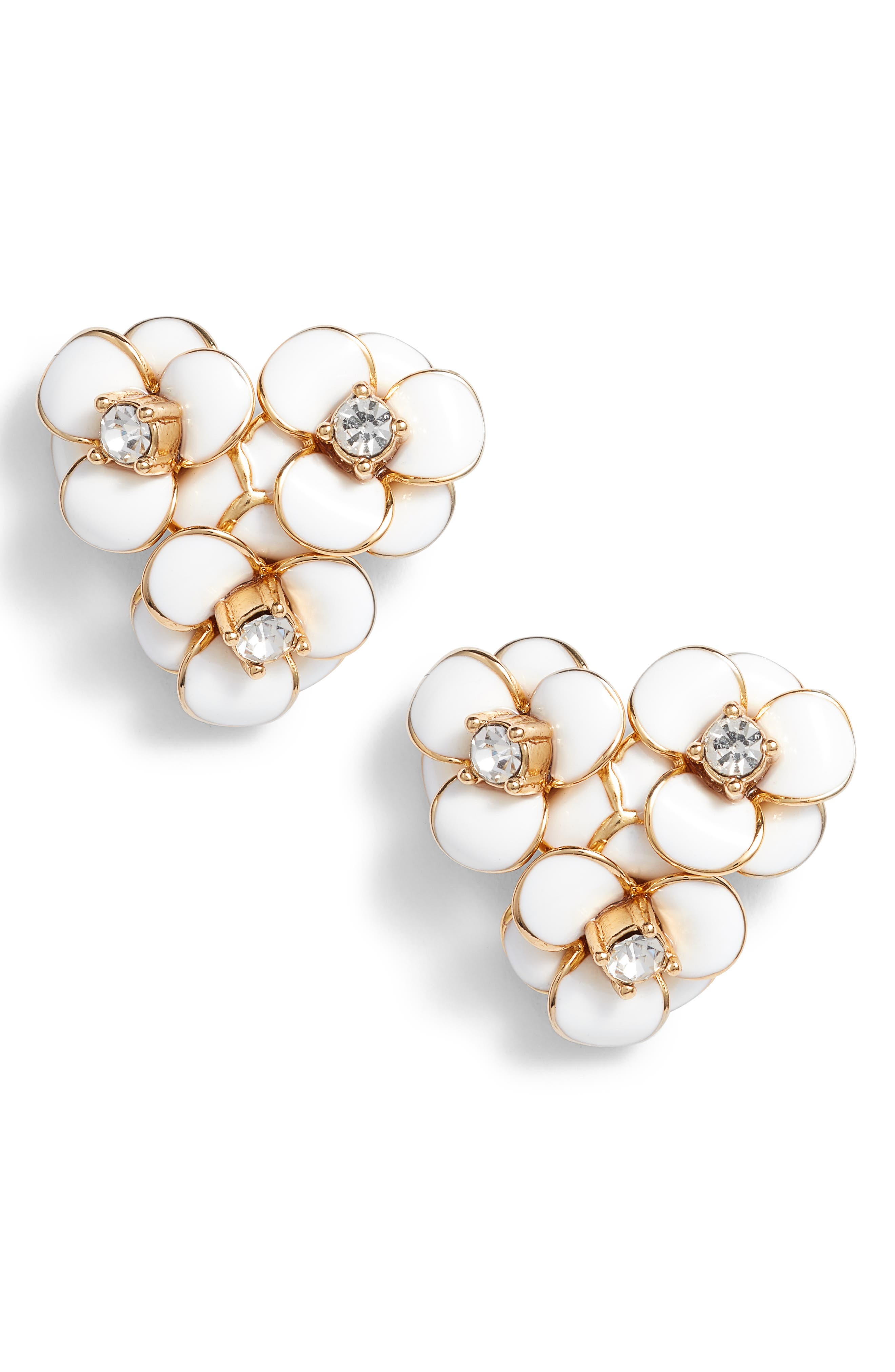 shine on flower cluster stud earrings,                             Main thumbnail 2, color,