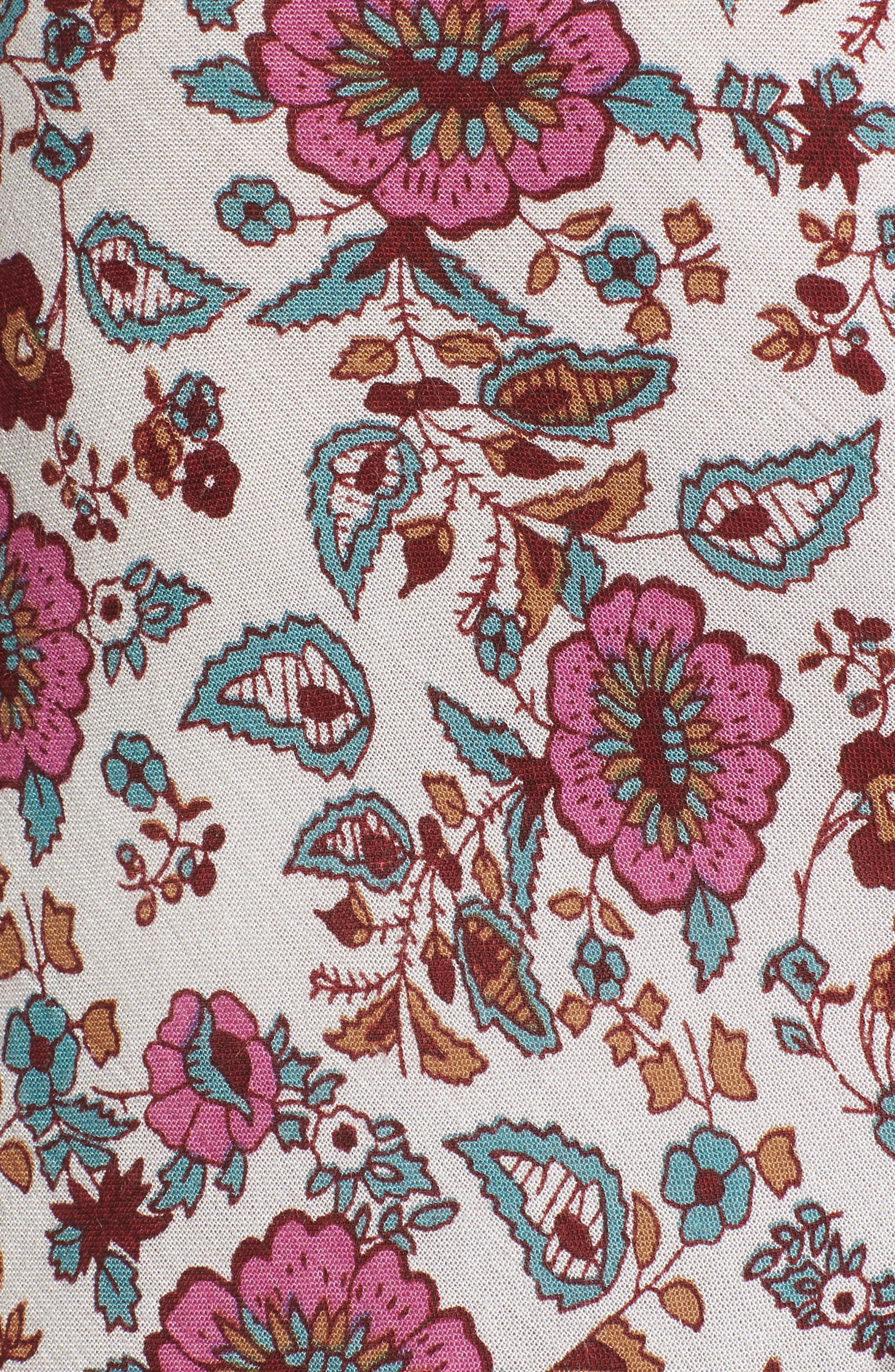 Summer Bloom Ruffle Skirt,                             Alternate thumbnail 5, color,                             650