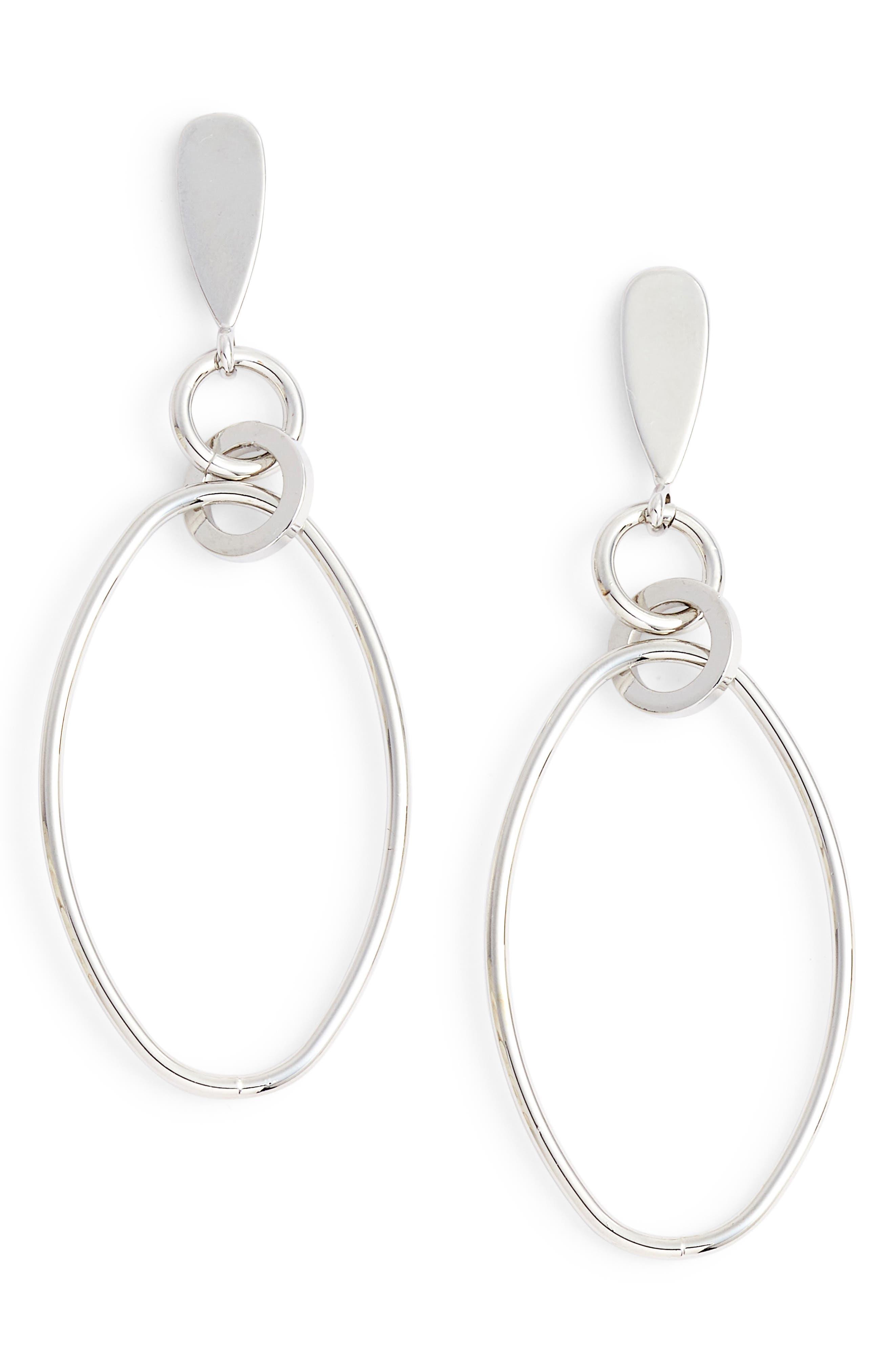 Oval Orbit Front Hoop Earrings,                             Main thumbnail 1, color,                             040