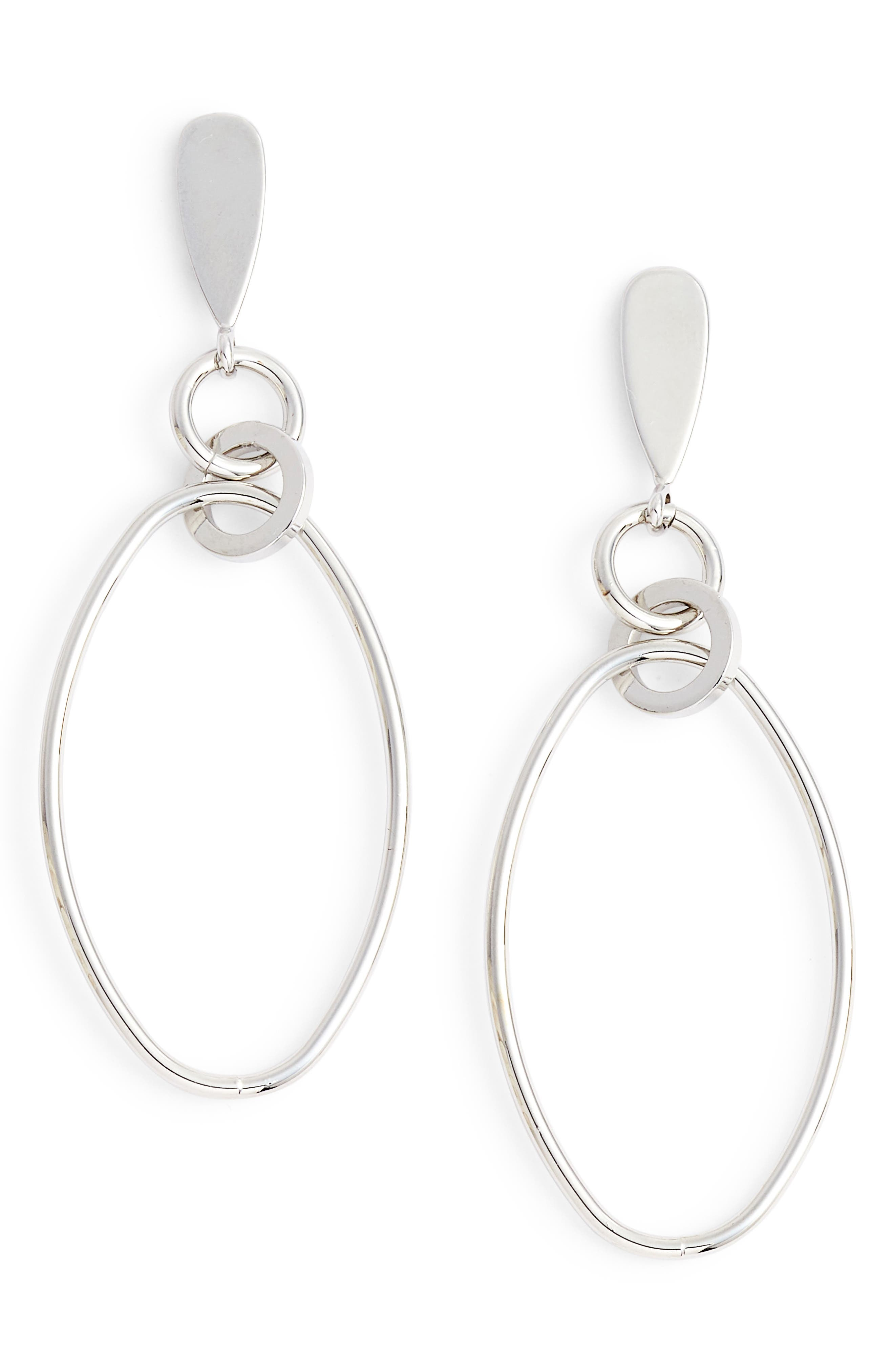 Oval Orbit Front Hoop Earrings,                         Main,                         color, 040