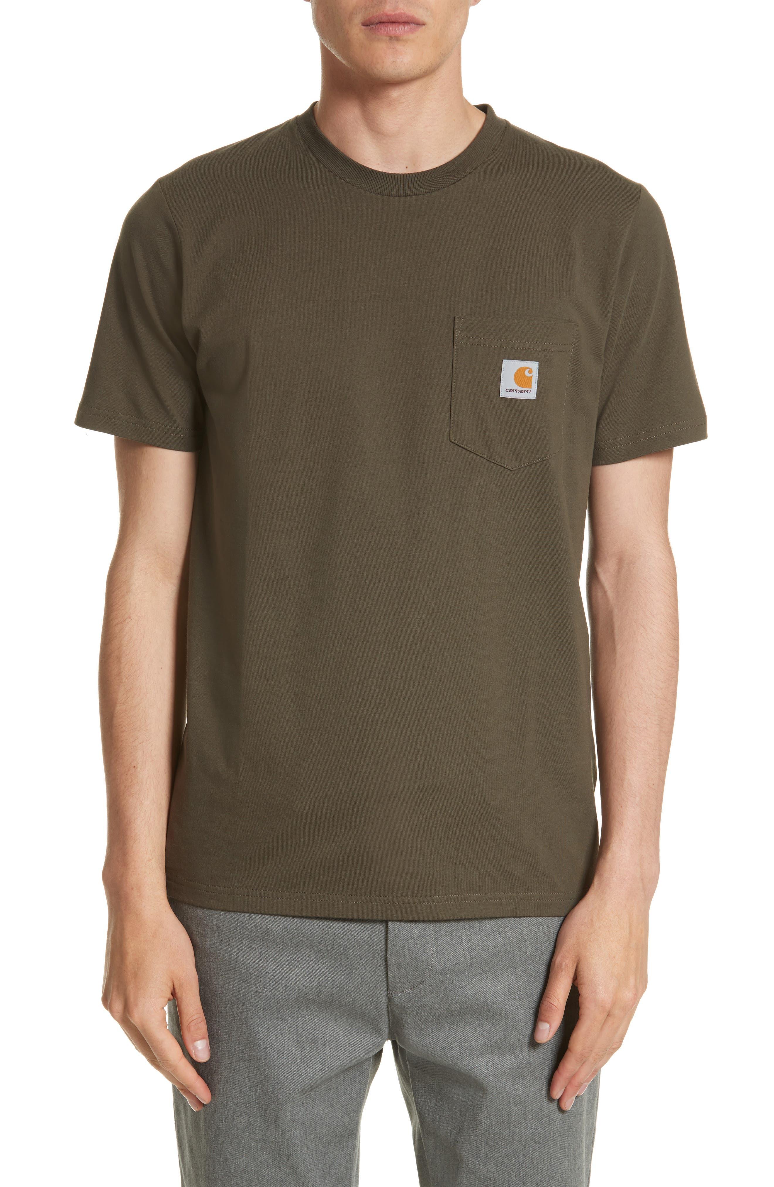 Carhartt Work In Progress Logo Pocket T-Shirt, Green