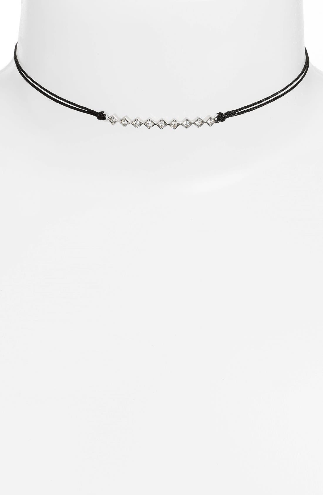 'Tulum' Crystal Bar Pendant Choker,                         Main,                         color, 001