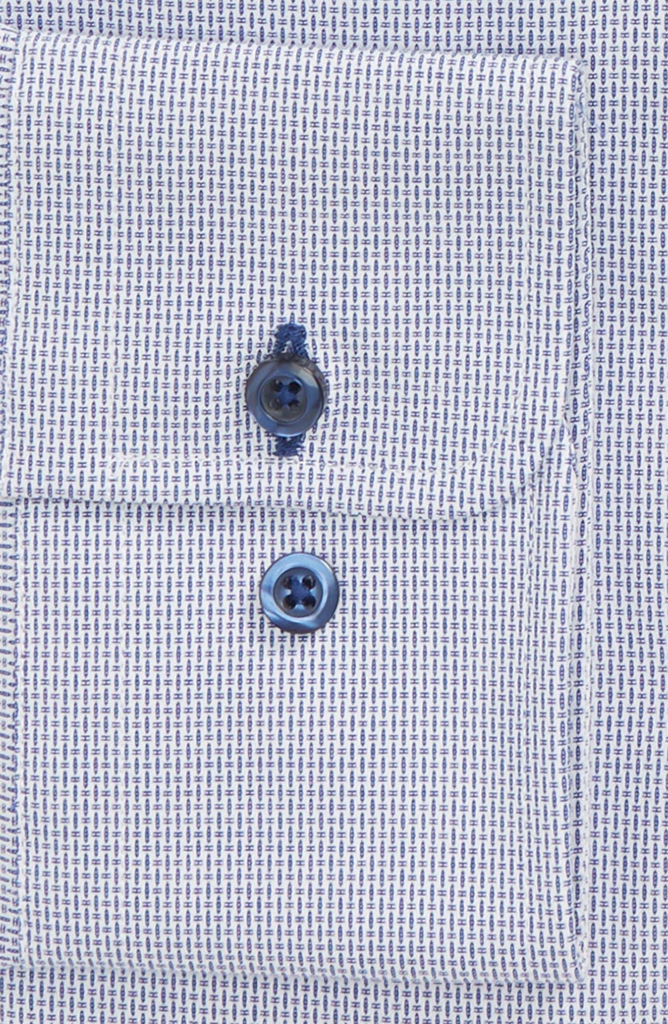 Regular Fit Solid Dress Shirt,                             Alternate thumbnail 4, color,
