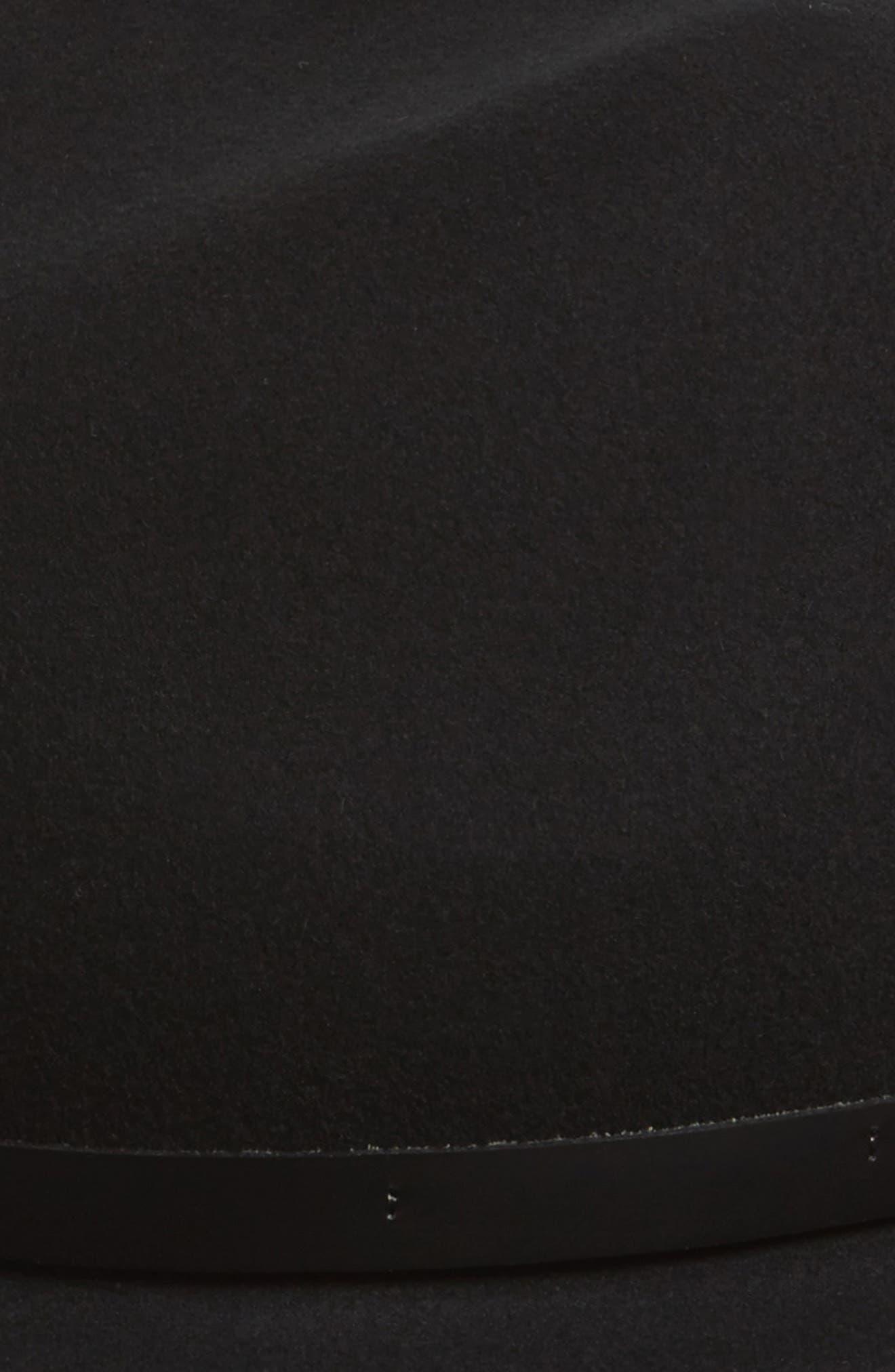 Floppy Brim Felted Wool Fedora,                             Alternate thumbnail 2, color,                             BLACK